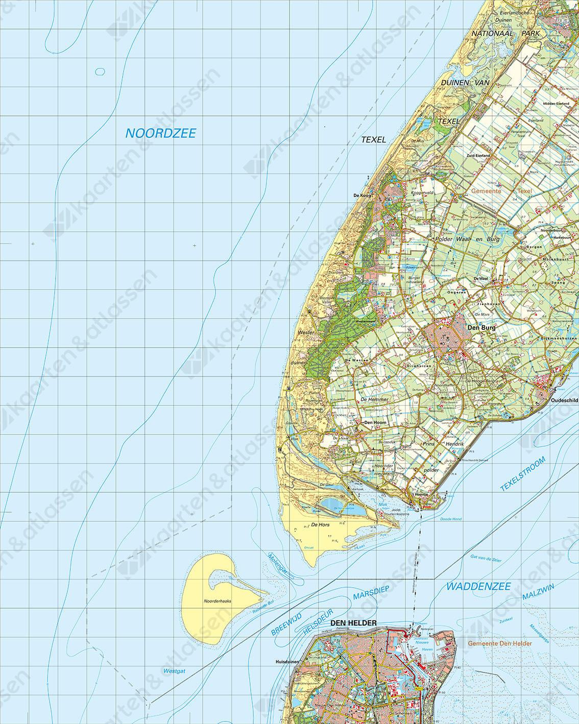 Digitale Topografische Kaart 9 West Den Helder