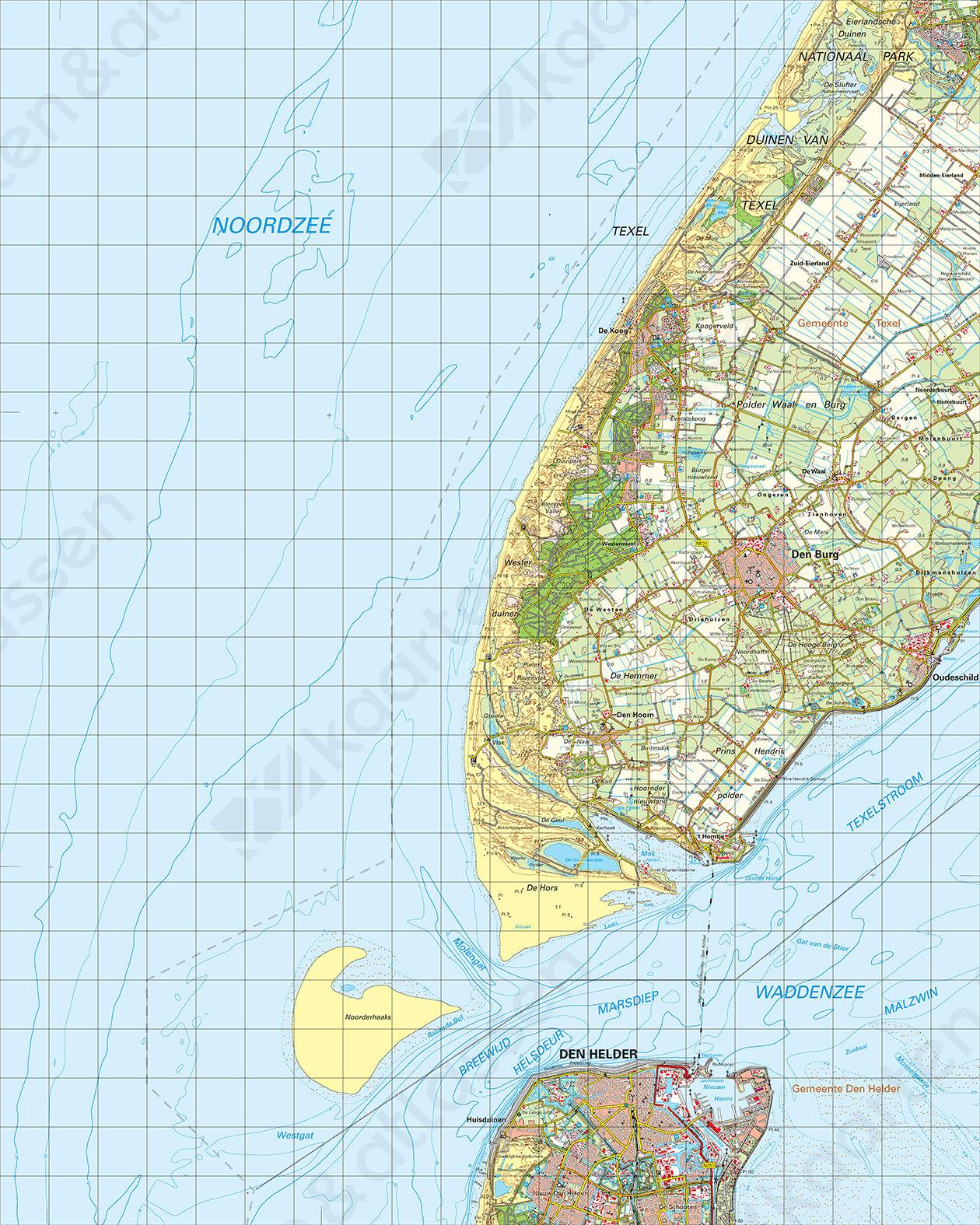 Topografische Kaart 9 West Den Helder