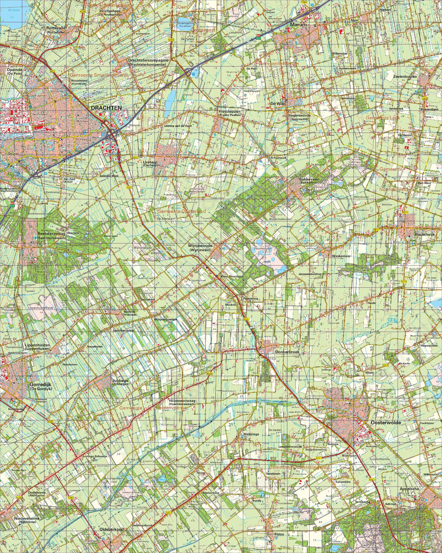 Topografische Kaart 11 Oost Heerenveen
