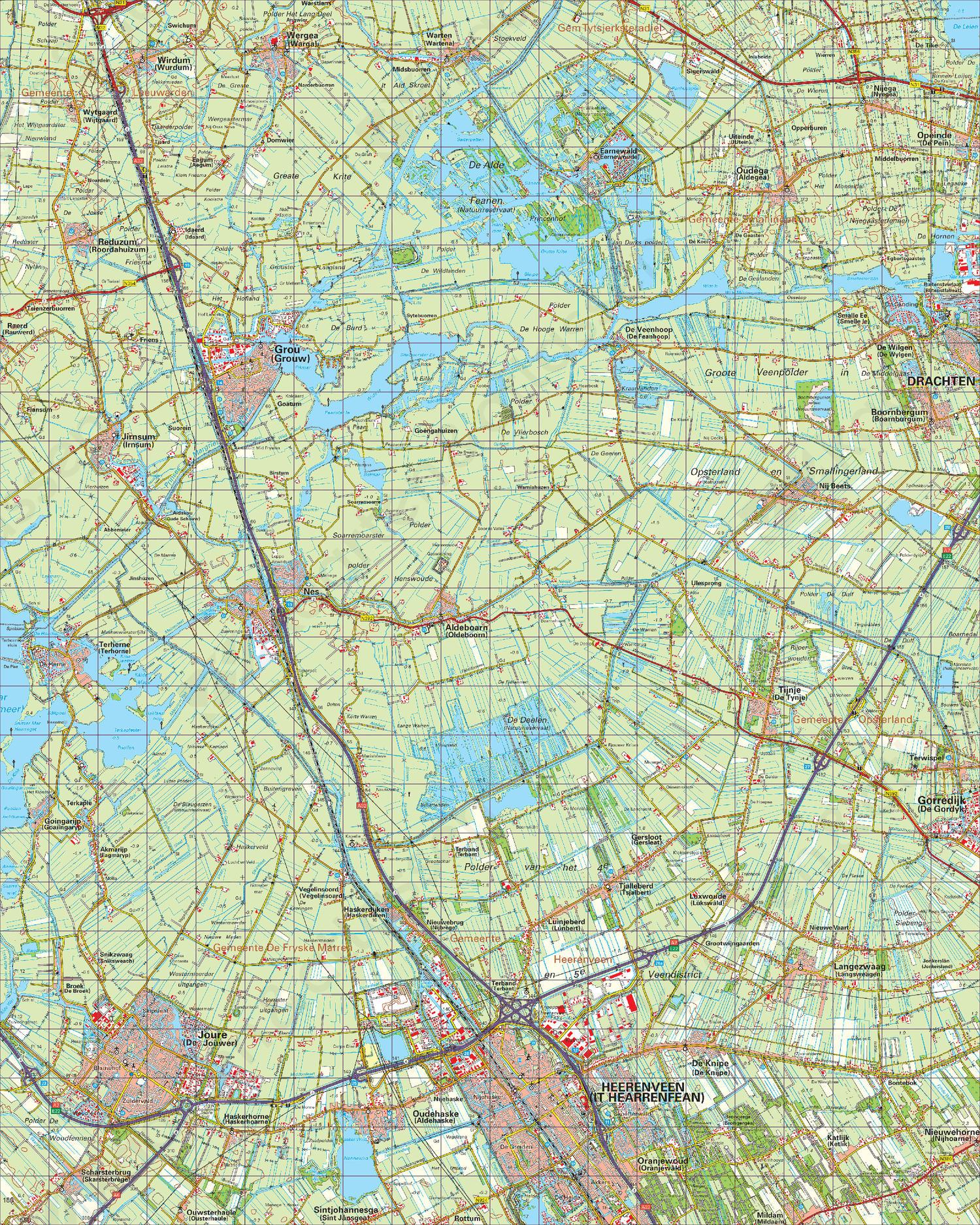 Topografische Kaart 11 West Heerenveen