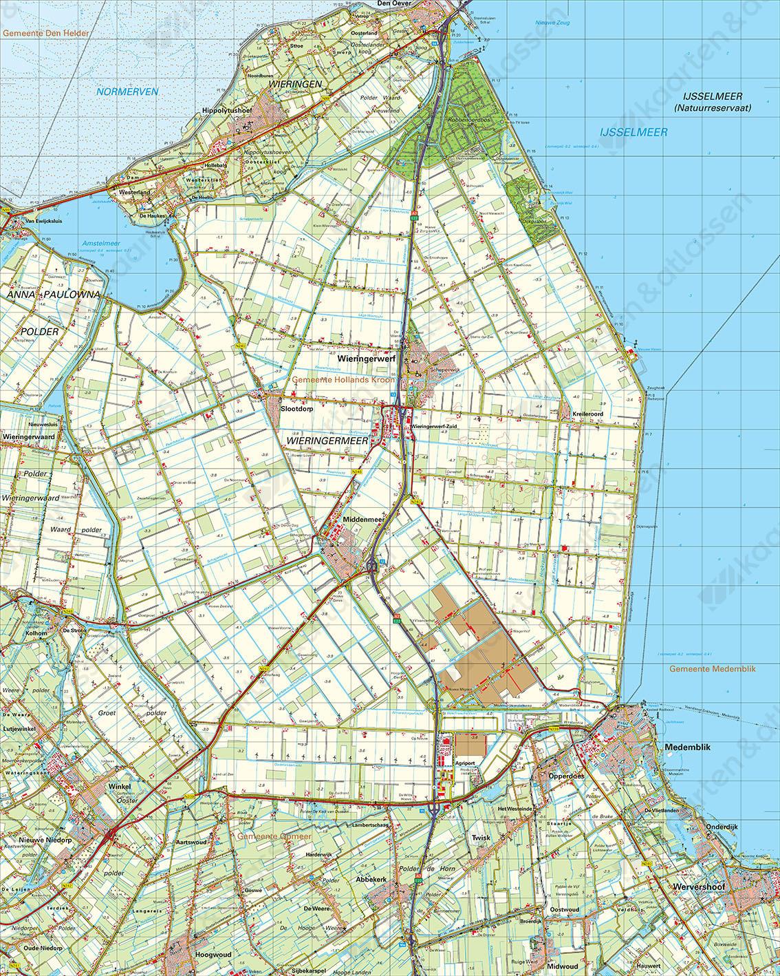 Digitale Topografische Kaart 14 Oost Medemblik