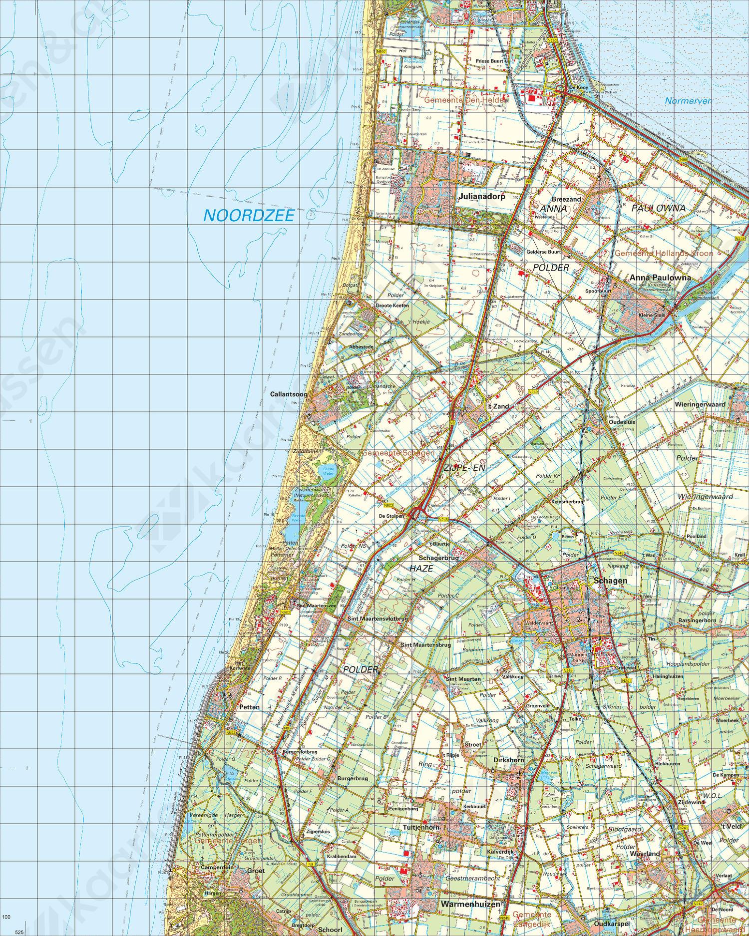 Topografische Kaart 14 West Medemblik