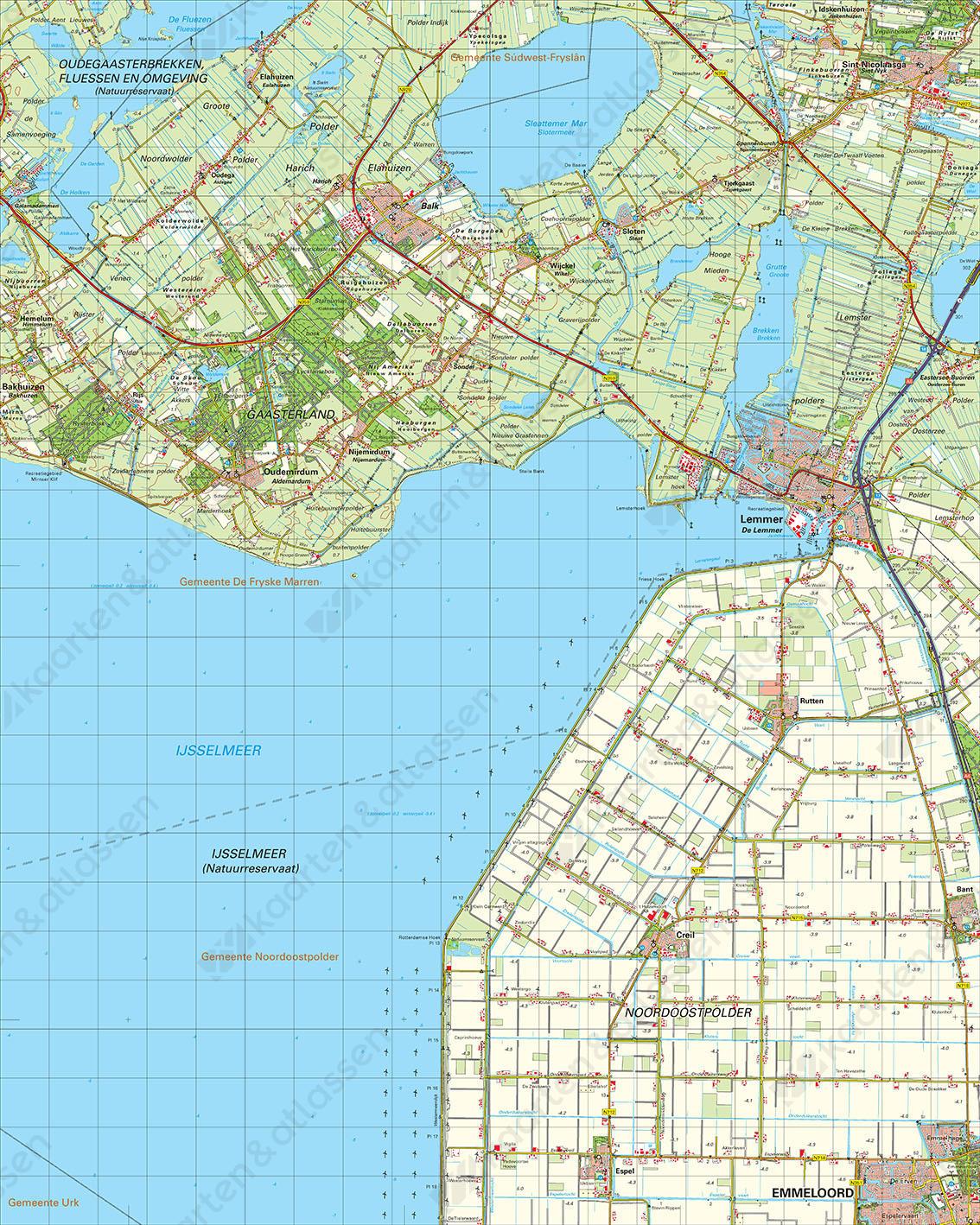 Digitale Topografische Kaart 15 Oost Stavoren