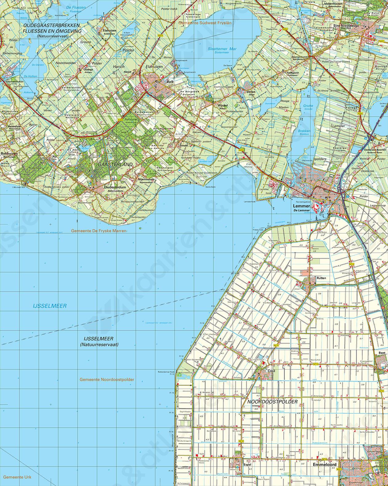Topografische Kaart 15 Oost Stavoren
