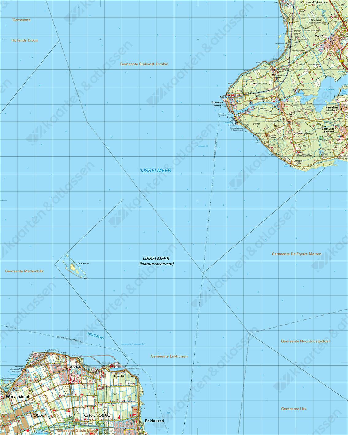 Digitale Topografische Kaart 15 West Stavoren