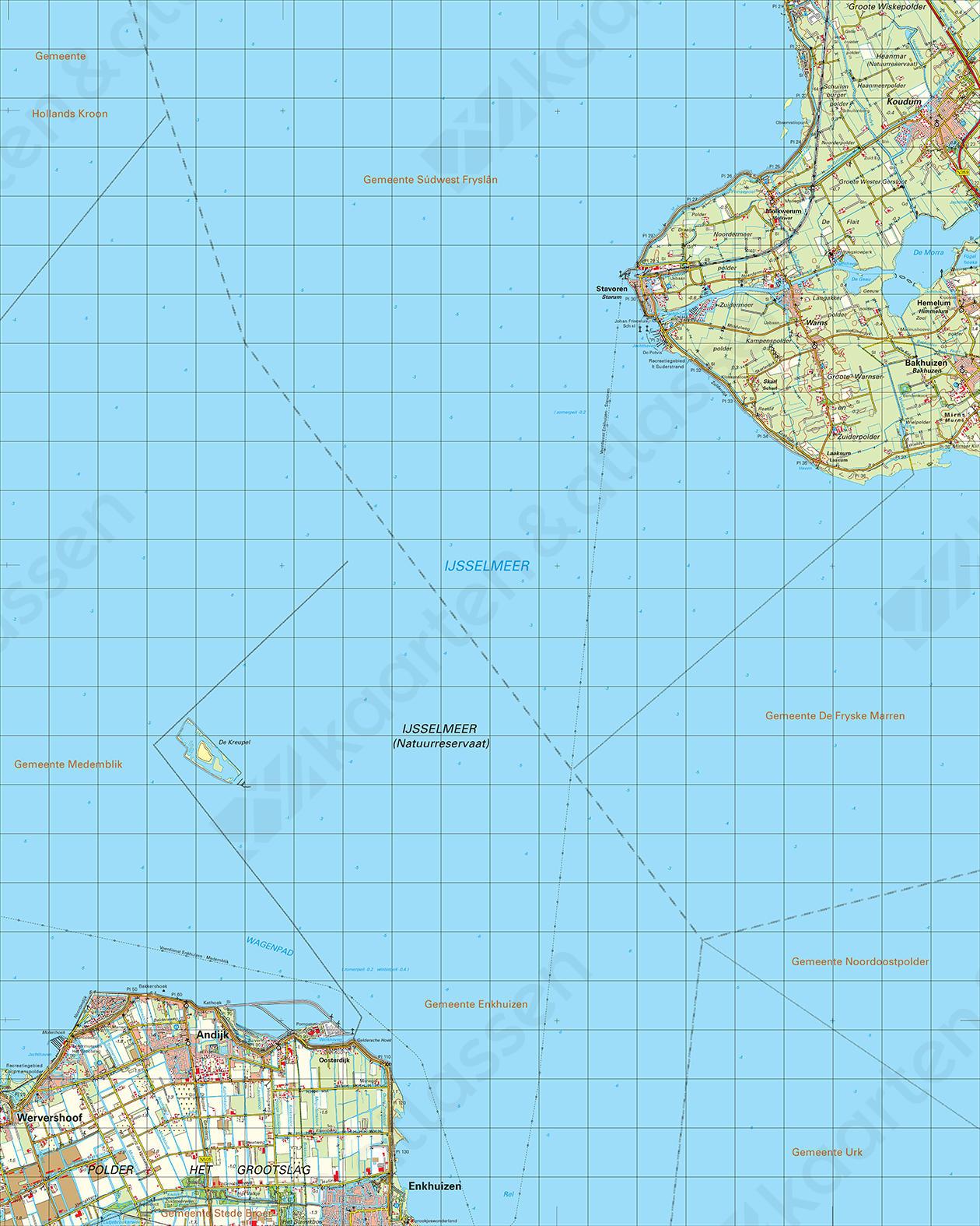 Topografische Kaart 15 West Stavoren