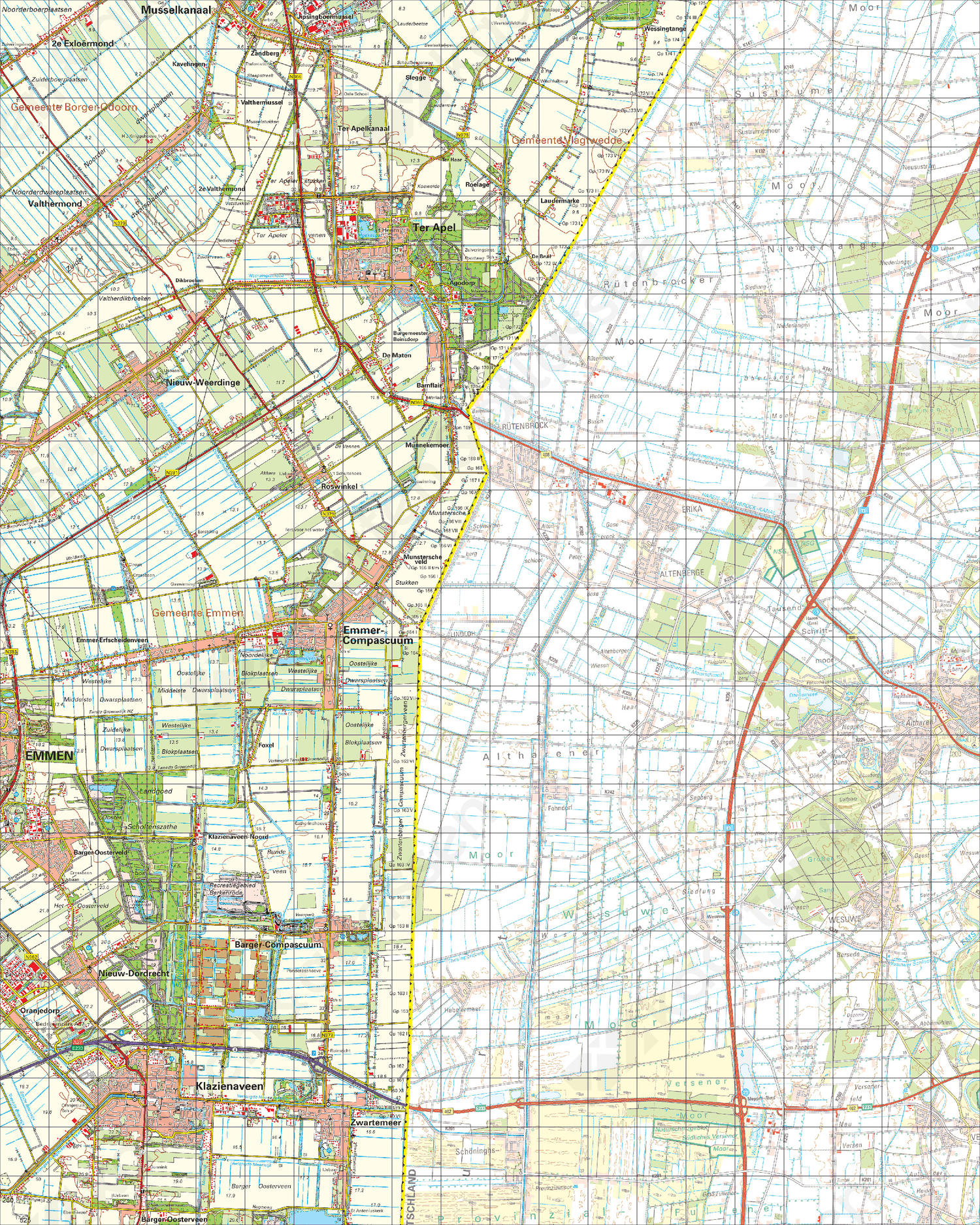 Digitale Topografische Kaart 18 West Ter Apel