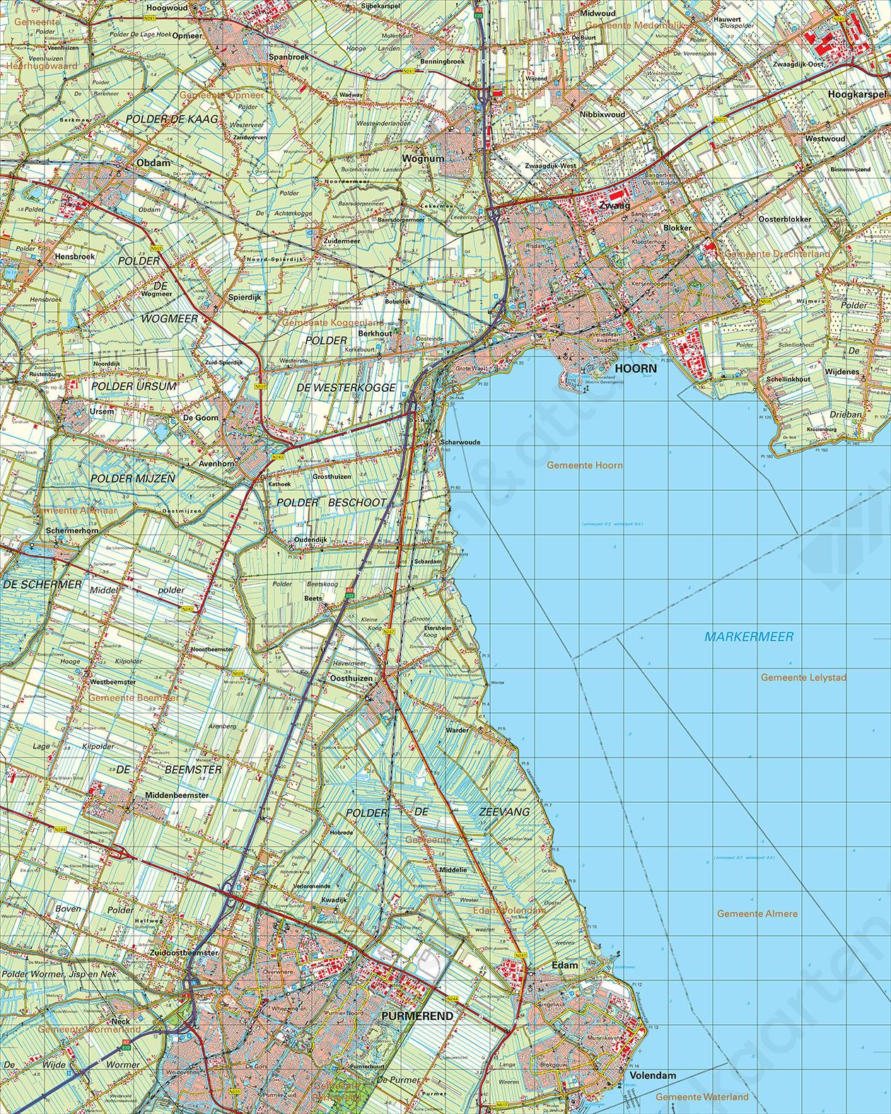 Topografische Kaart 19 Oost Alkmaar