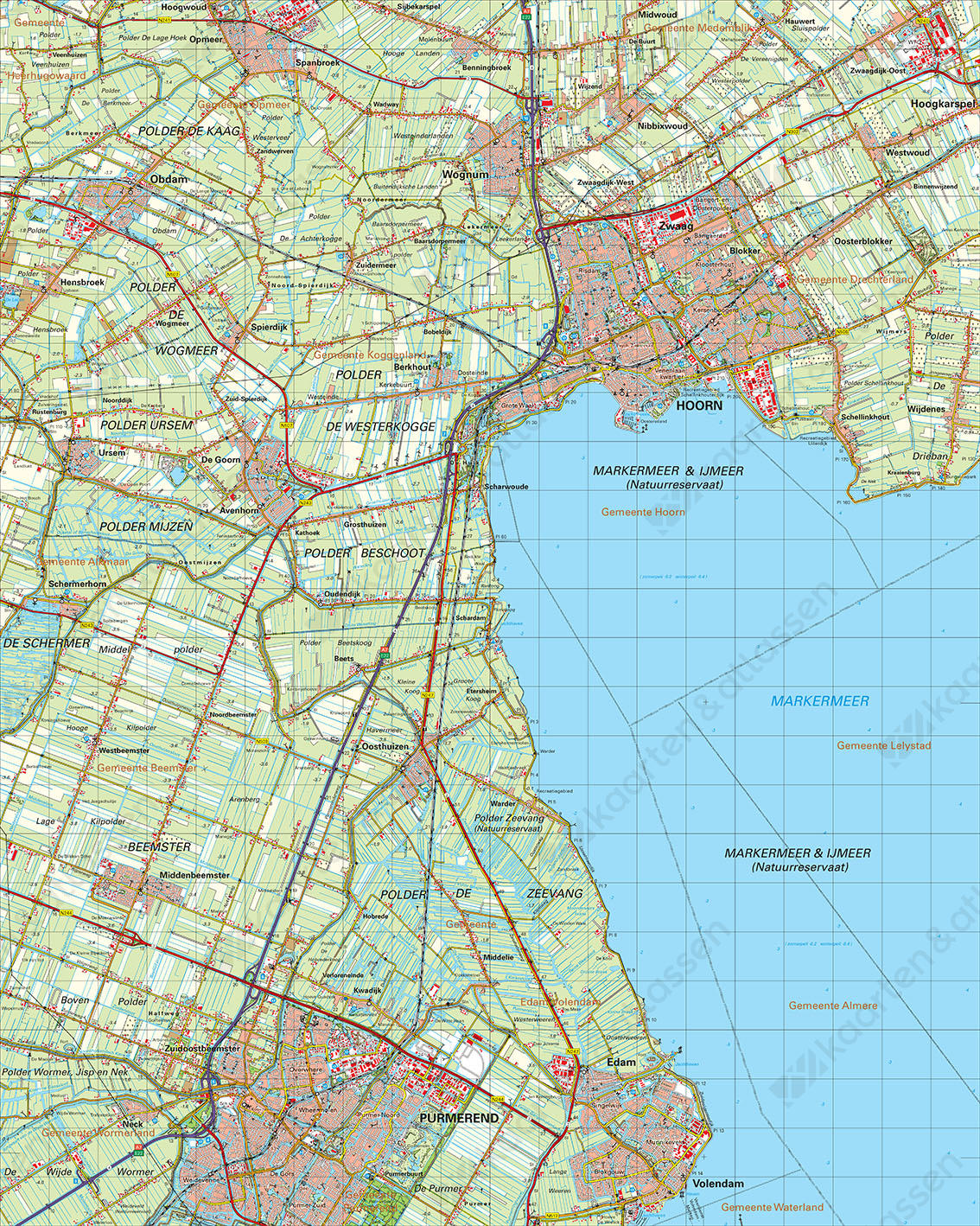 Digitale Topografische Kaart 19 Oost Alkmaar
