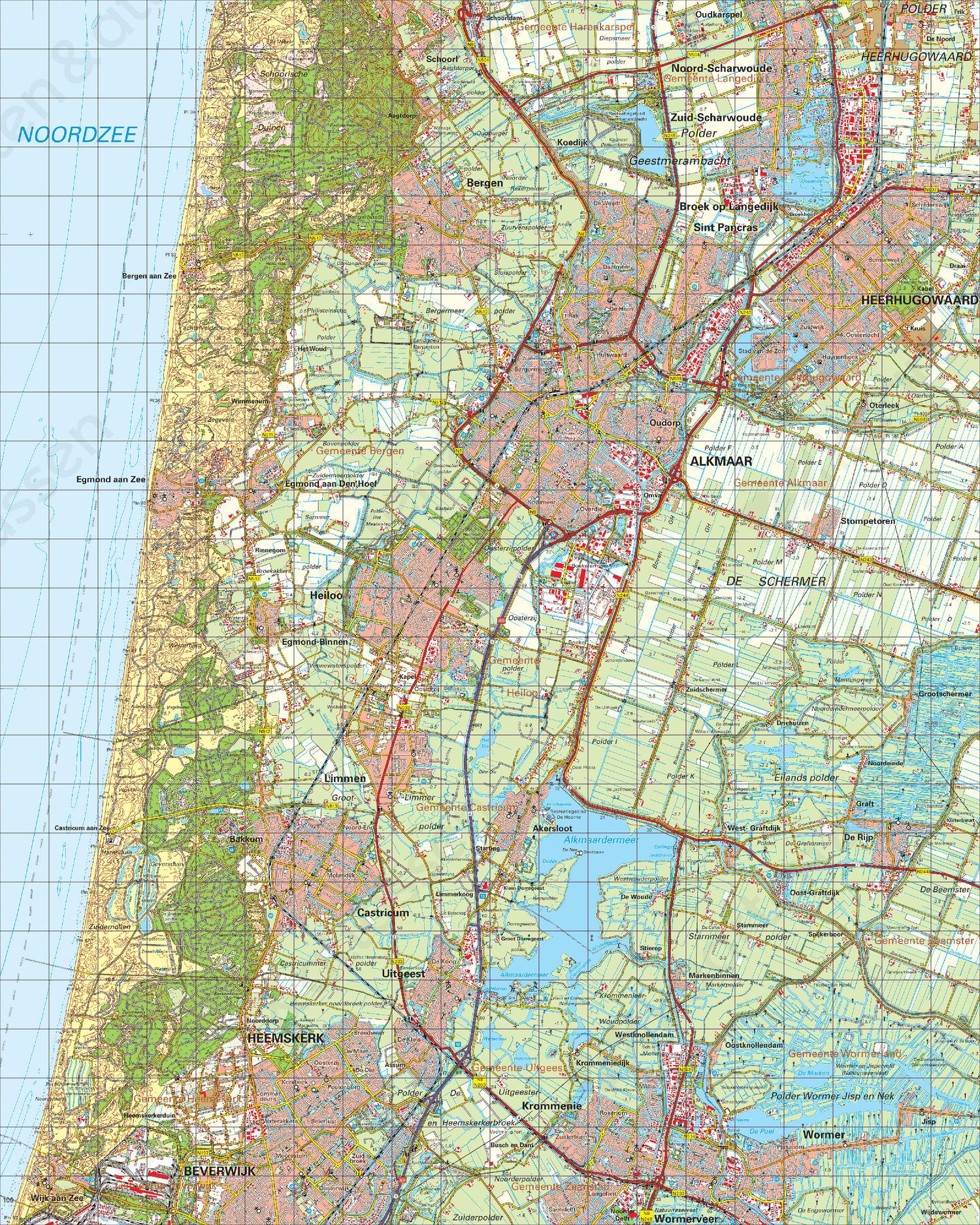 Digitale Topografische Kaart 19 West Alkmaar Kaarten En Atlassen Nl