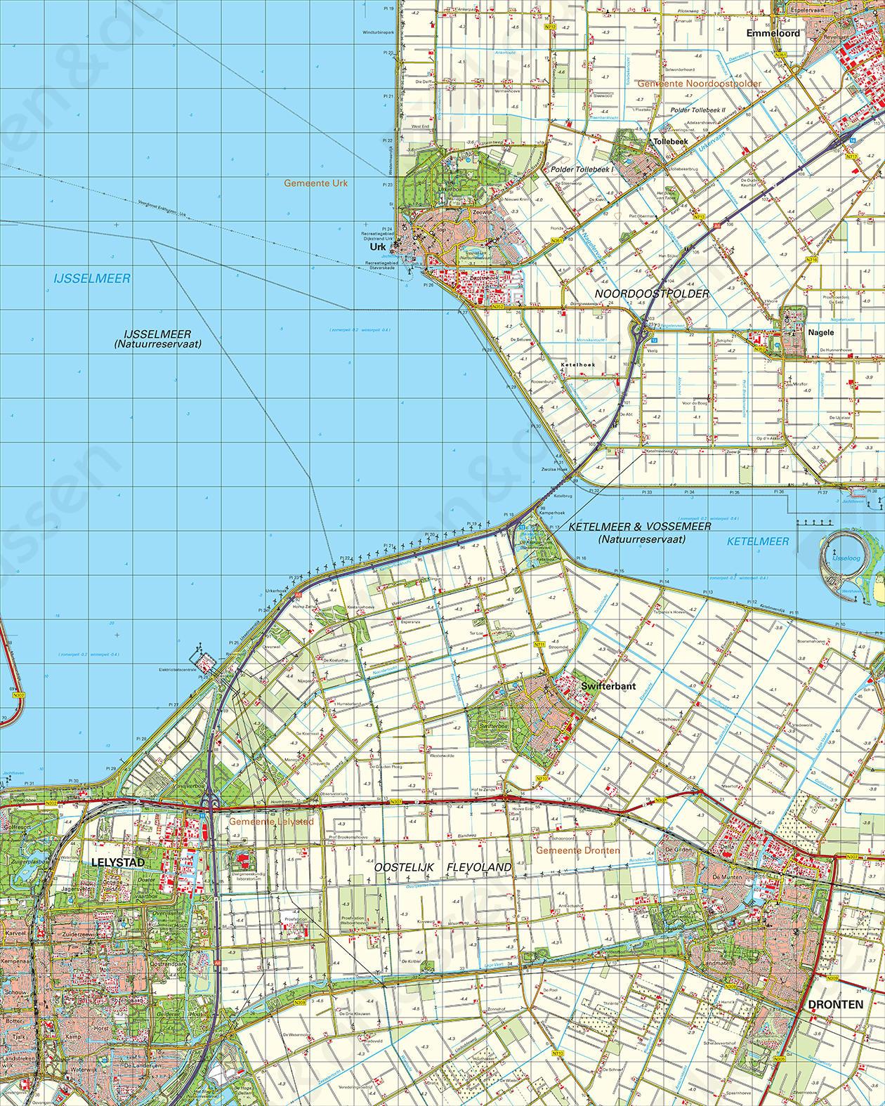 Topografische Kaart 20 Oost Lelystad