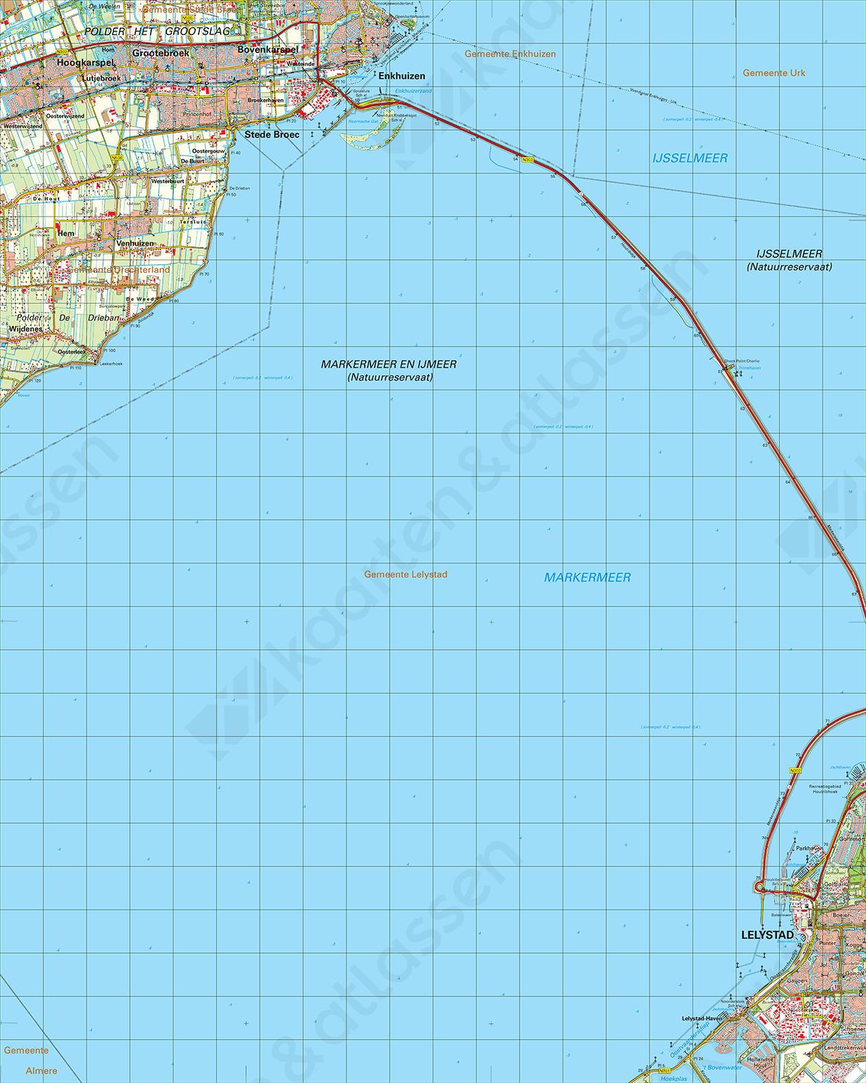 Topografische Kaart 20 West Lelystad