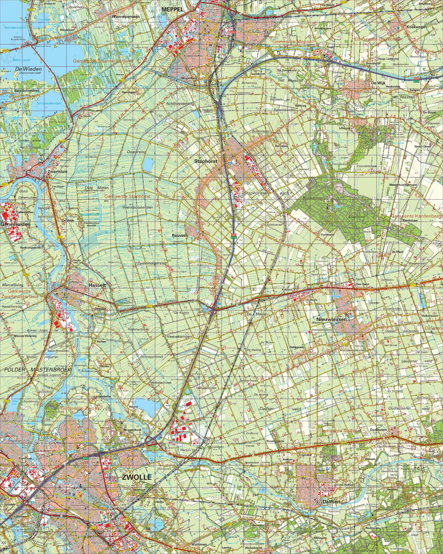 Topografische Kaart 21 Oost Zwolle