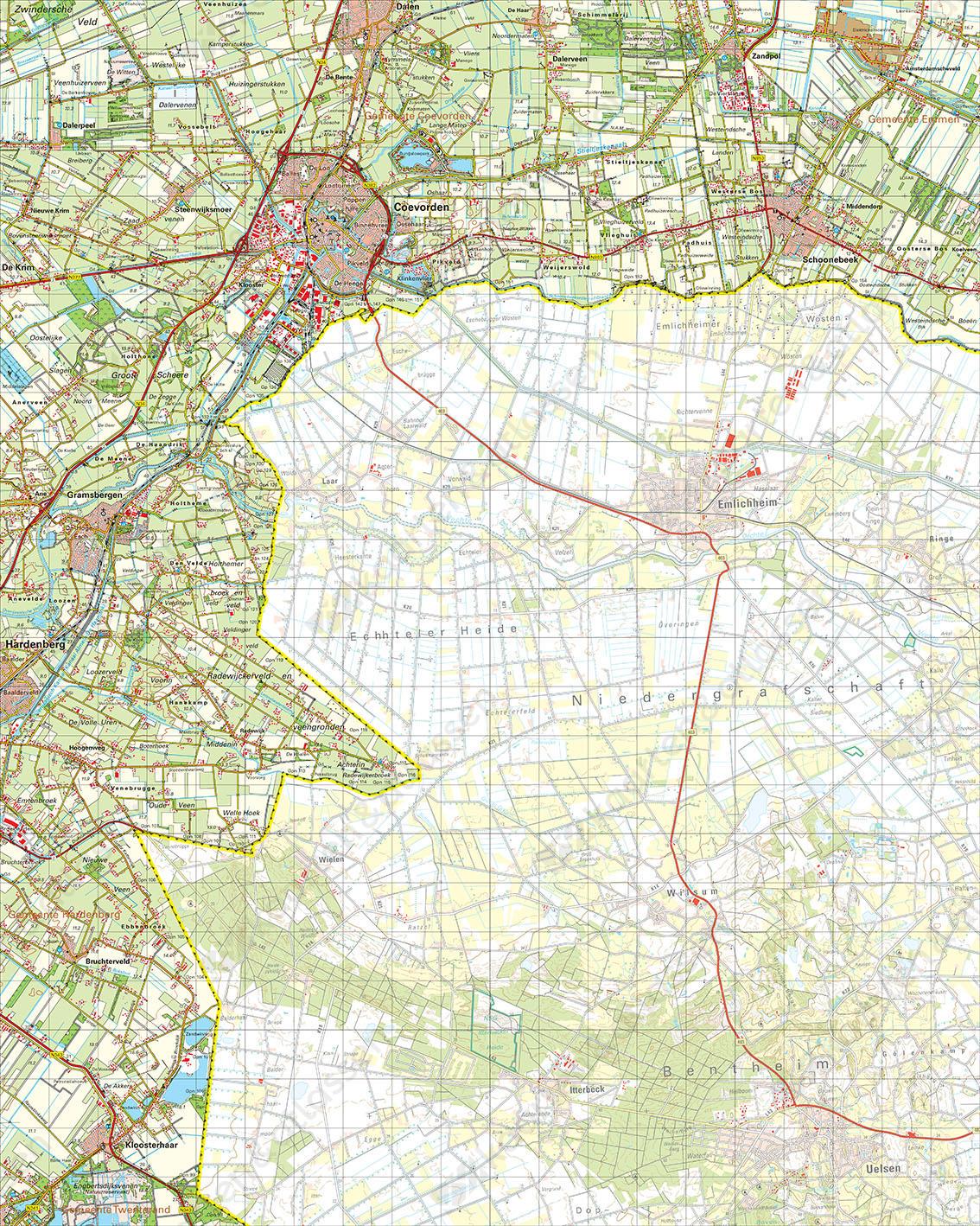 Digitale Topografische Kaart 22 Oost Coevorden