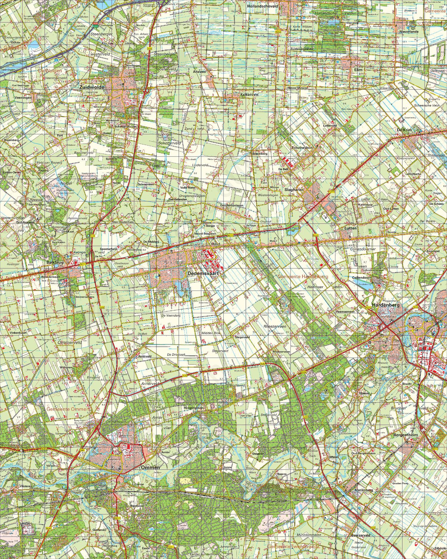 Digitale Topografische Kaart 22 West Coevorden