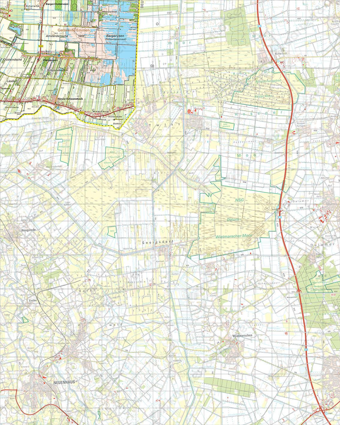Digitale Topografische Kaart 23 West Nieuw-Schoonebeek