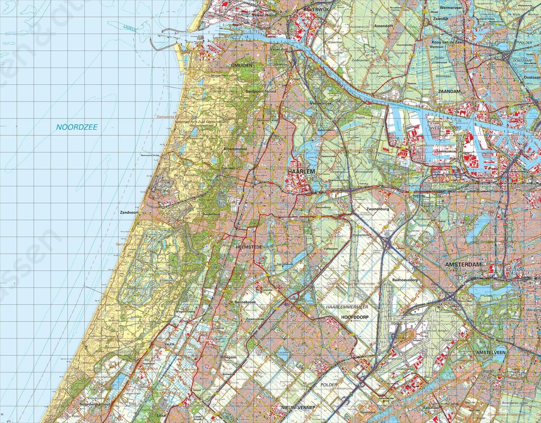 Digitale Topografische Kaart 25 West Amsterdam