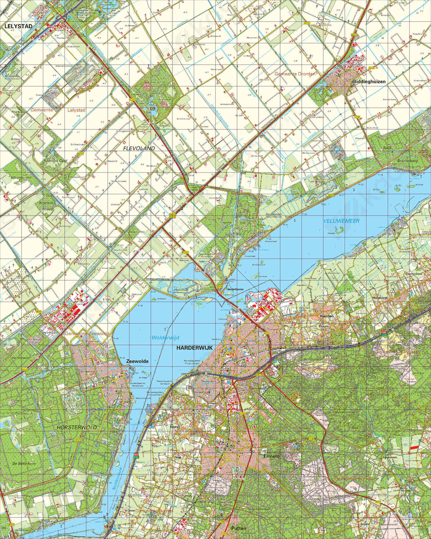 Digitale Topografische Kaart 26 Oost Harderwijk