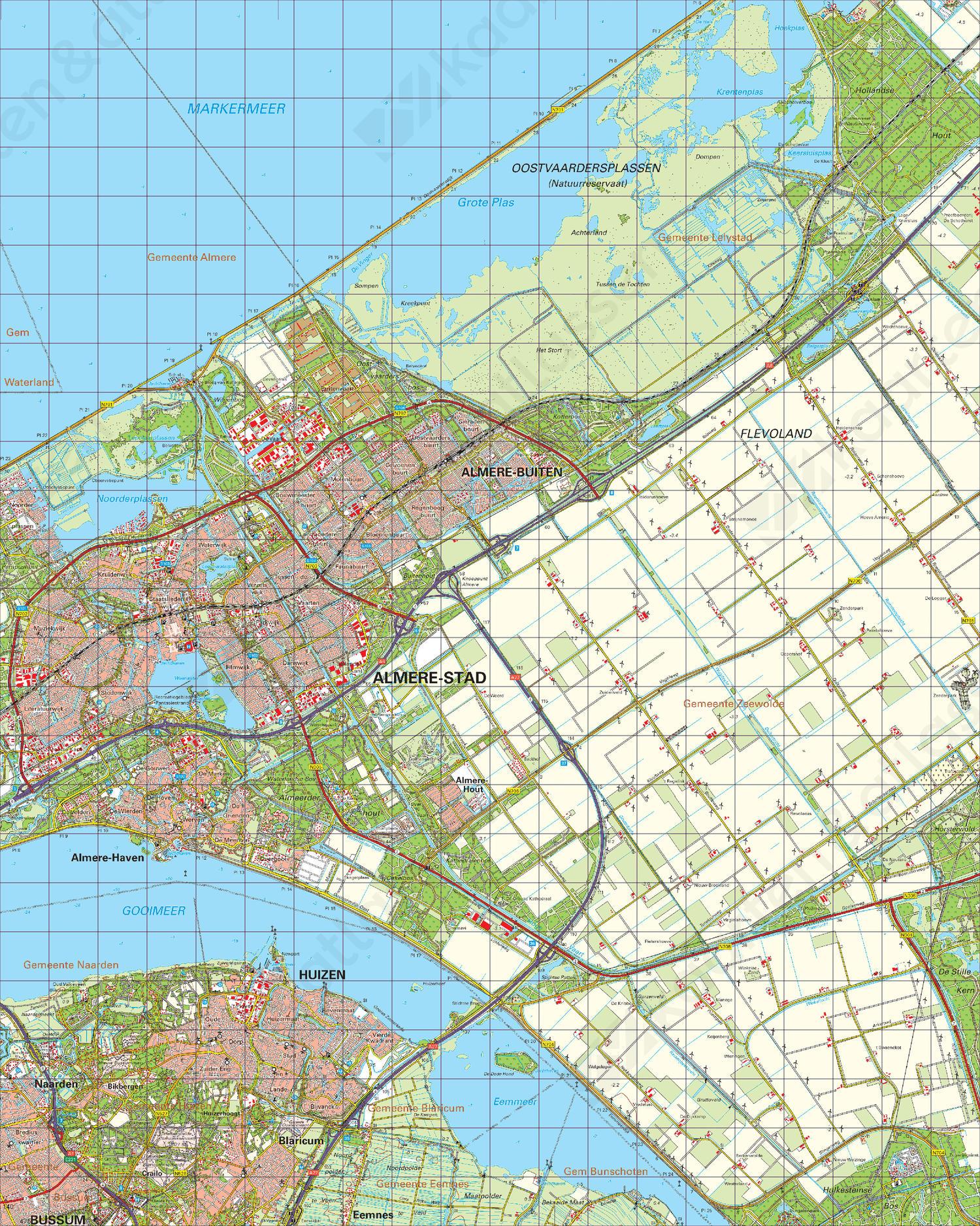 Topografische Kaart 26 West Harderwijk