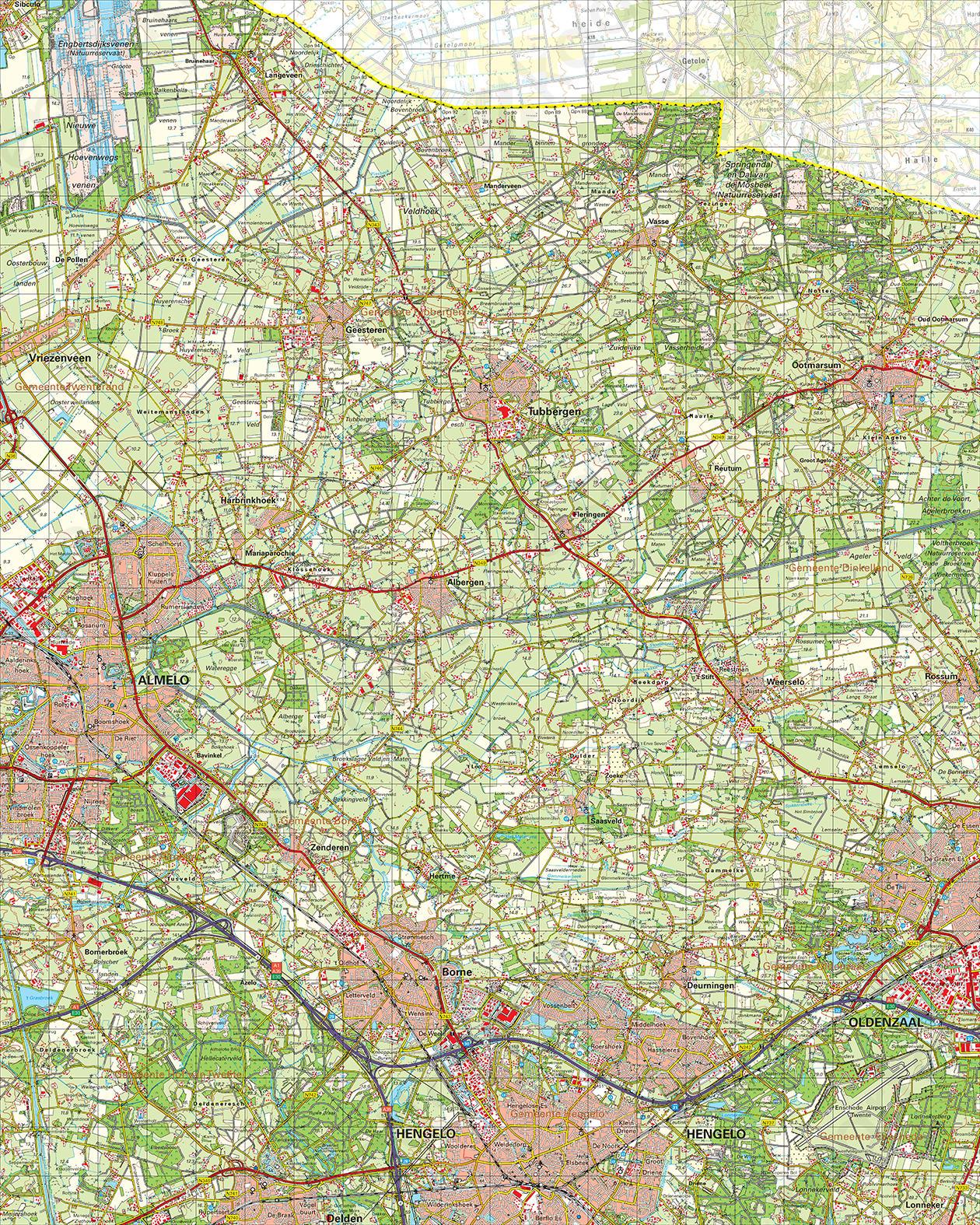 Topografische Kaart 28 Oost Almelo
