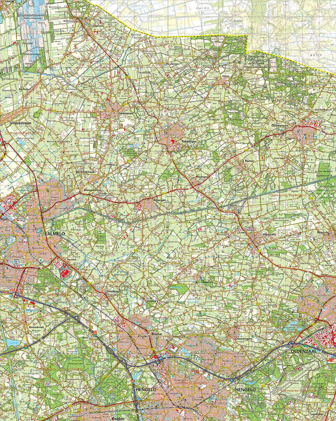 Digitale Topografische Kaart 28 Oost Almelo