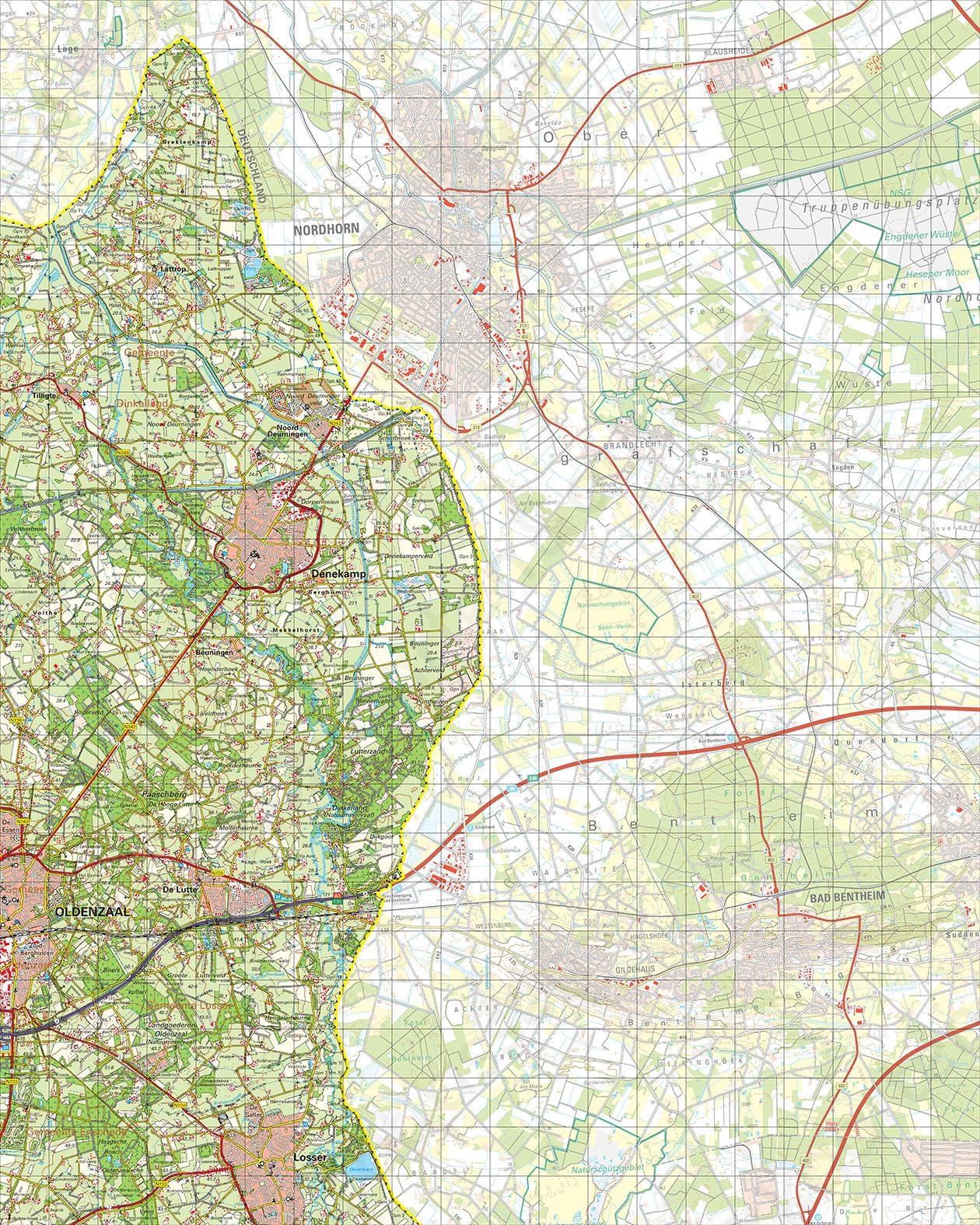 Topografische Kaart 29 West Denekamp