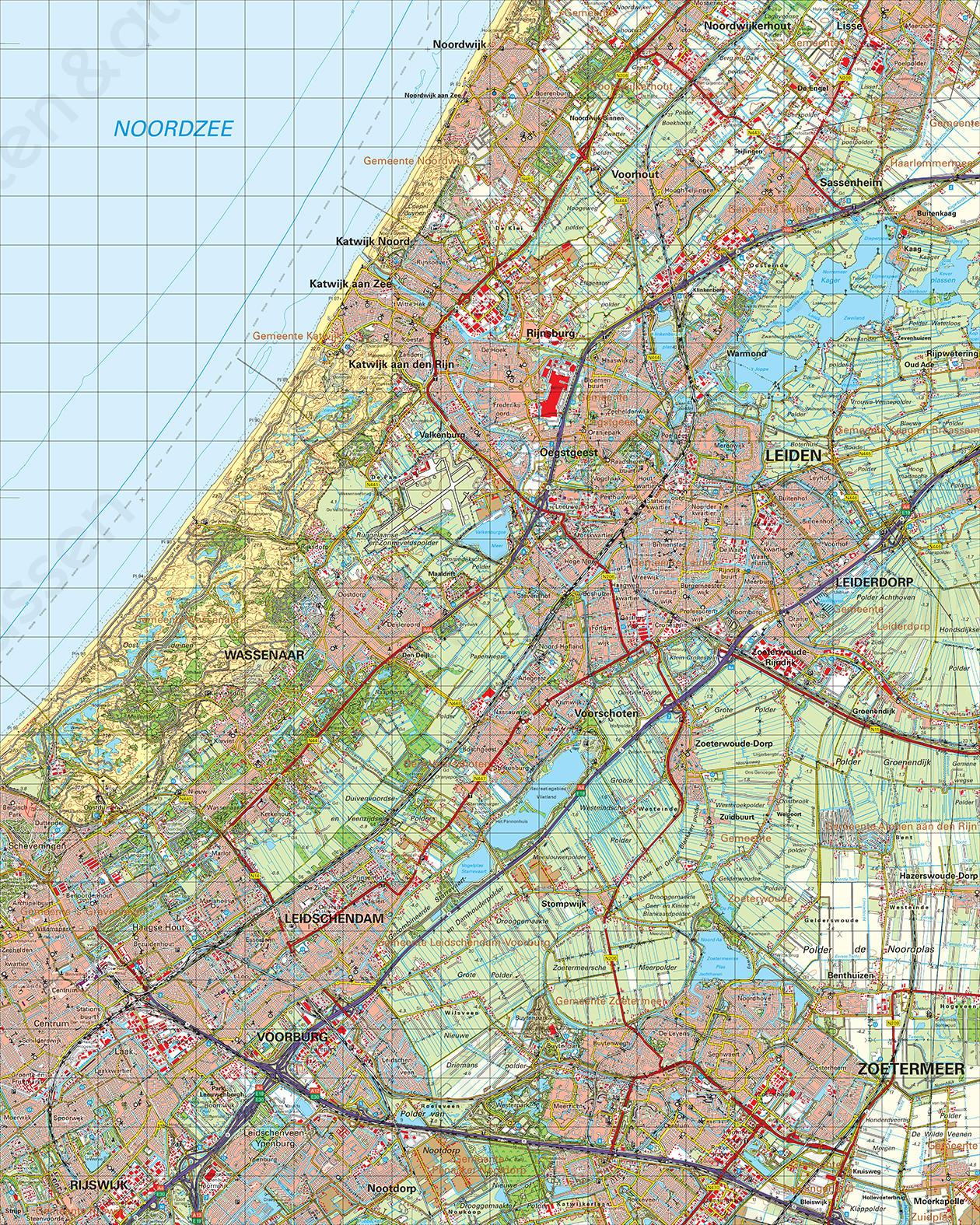 geografische kaart nederland Topografische Kaart 30 Oost 's Gravenhage | Kaarten en Atlassen.nl