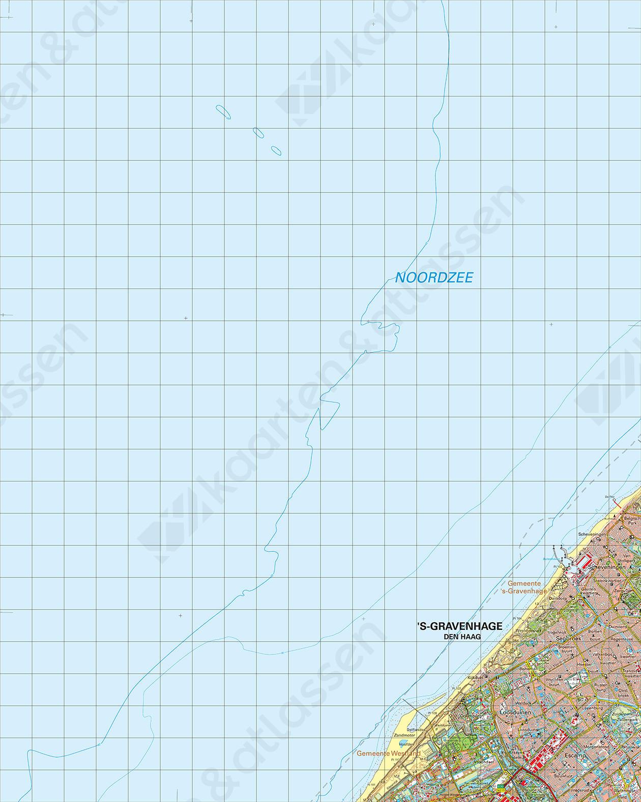 Topografische Kaart 30 West 's-Gravenhage