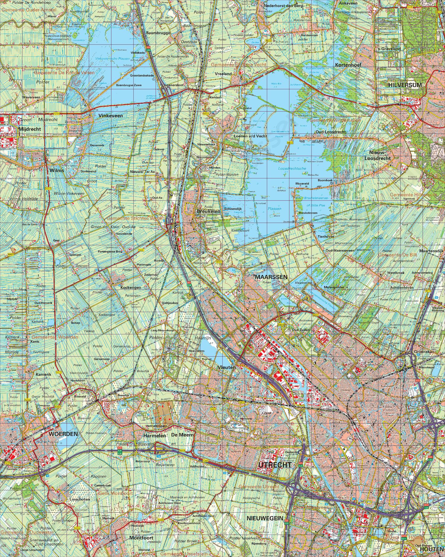 Topografische Kaart 31 Oost Utrecht