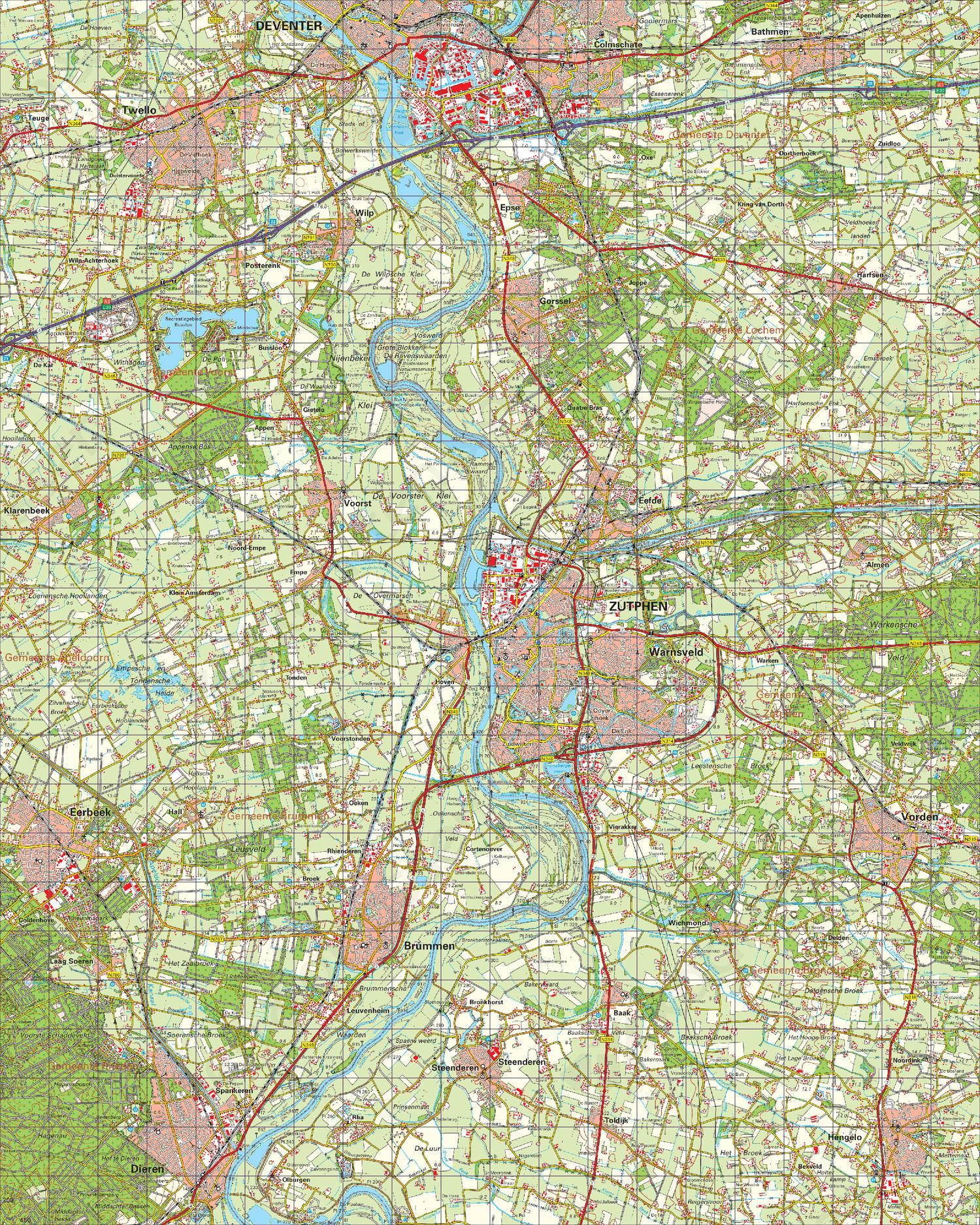 Topografische Kaart 33 Oost Apeldoorn