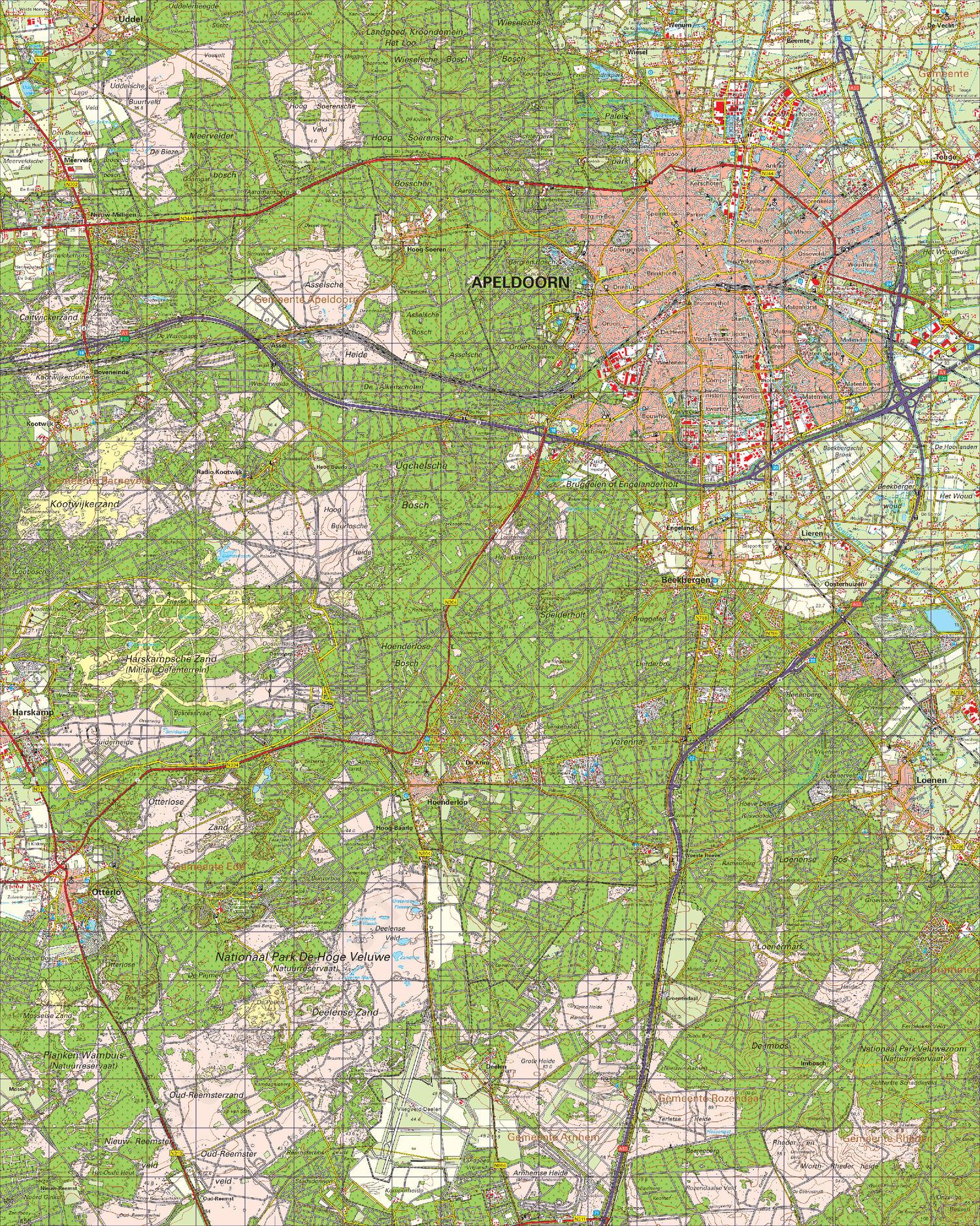 Topografische Kaart 33 West Apeldoorn