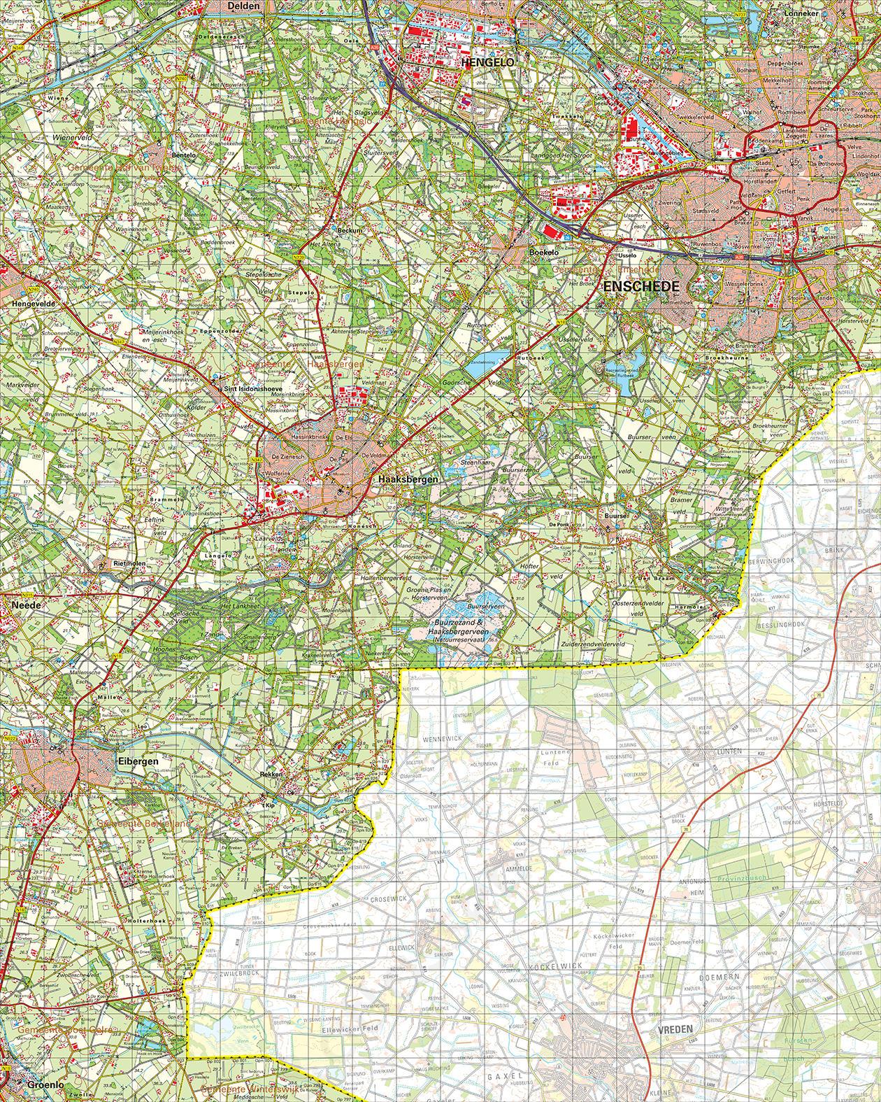 Topografische Kaart 34 Oost Enschede