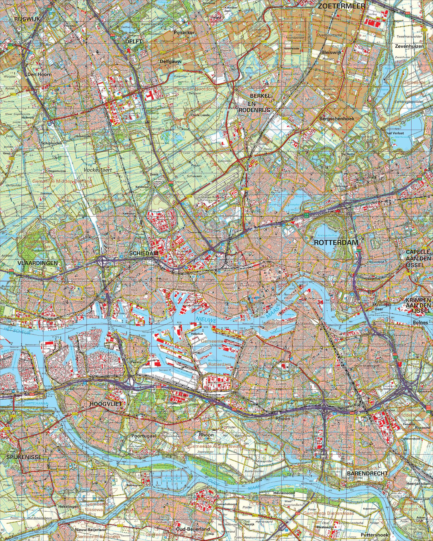 Topografische Kaart 37 Oost Rotterdam