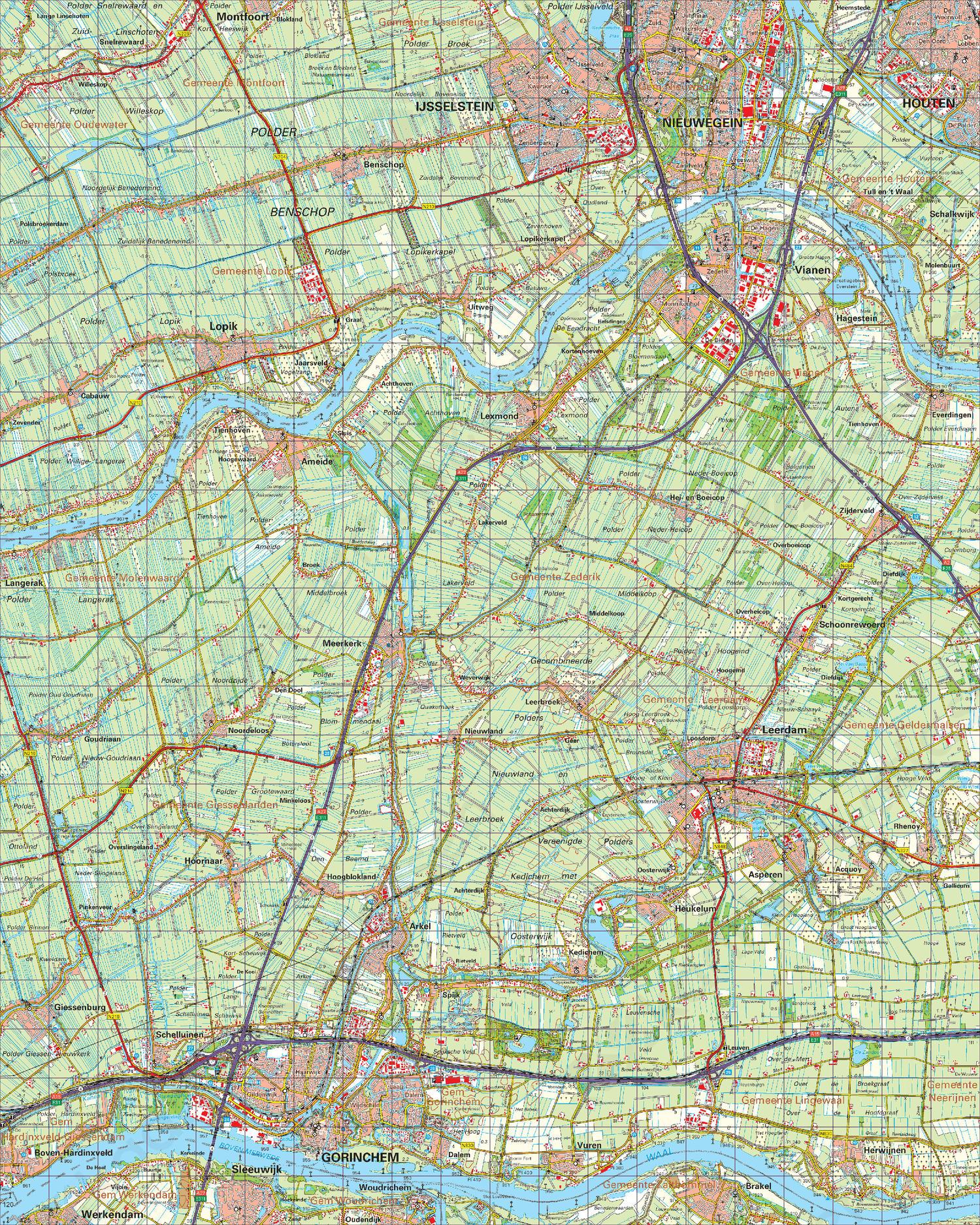 Topografische Kaart 38 Oost Gorinchem