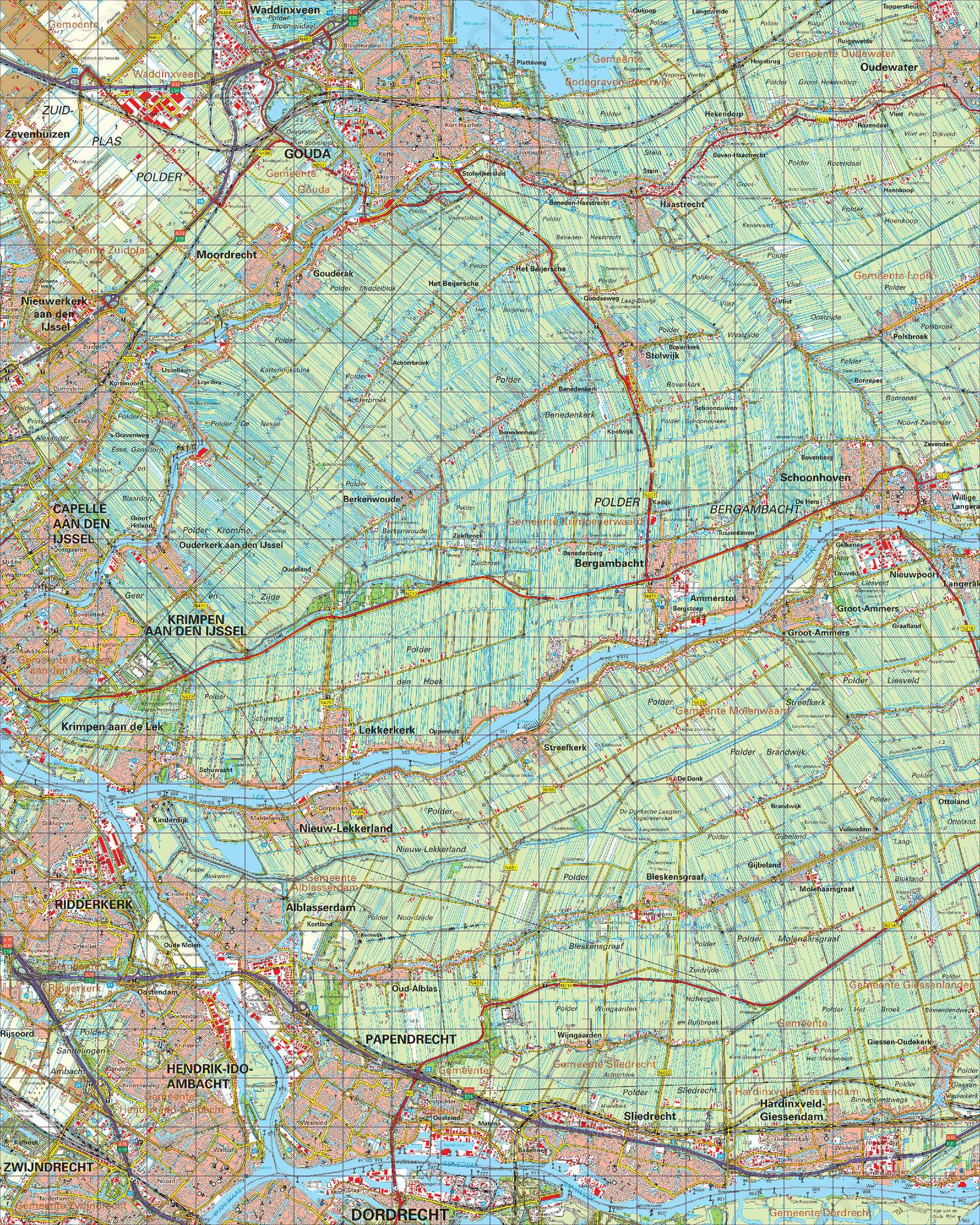 Topografische Kaart 38 West Gorinchem