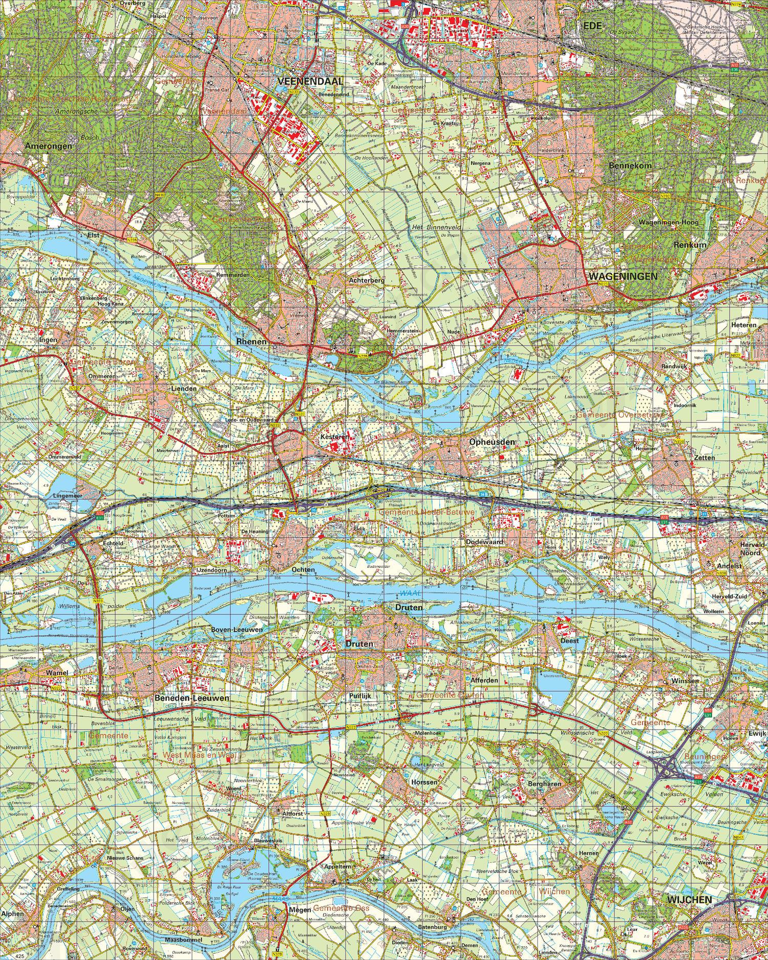 Topografische Kaart 39 Oost Tiel