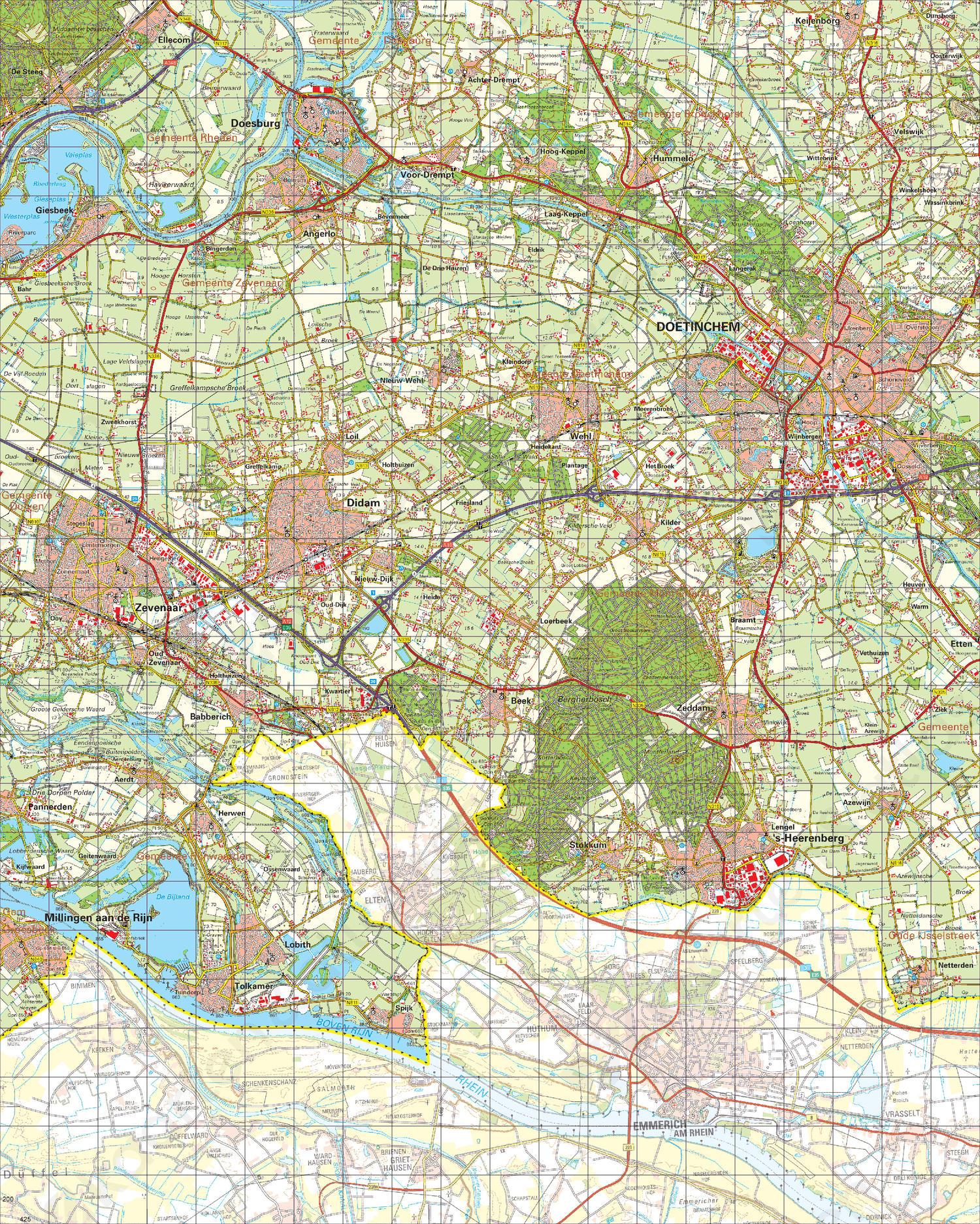 Topografische Kaart 40 Oost Arnhem