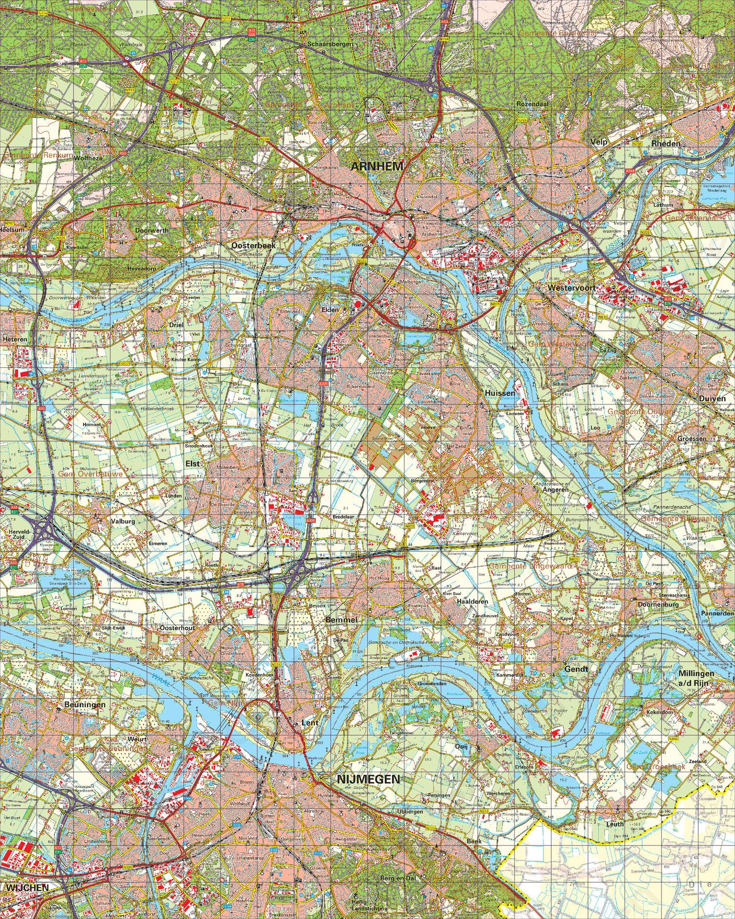 arnhem kaart Digitale Topografische Kaart 40 West Arnhem | Kaarten en Atlassen.nl
