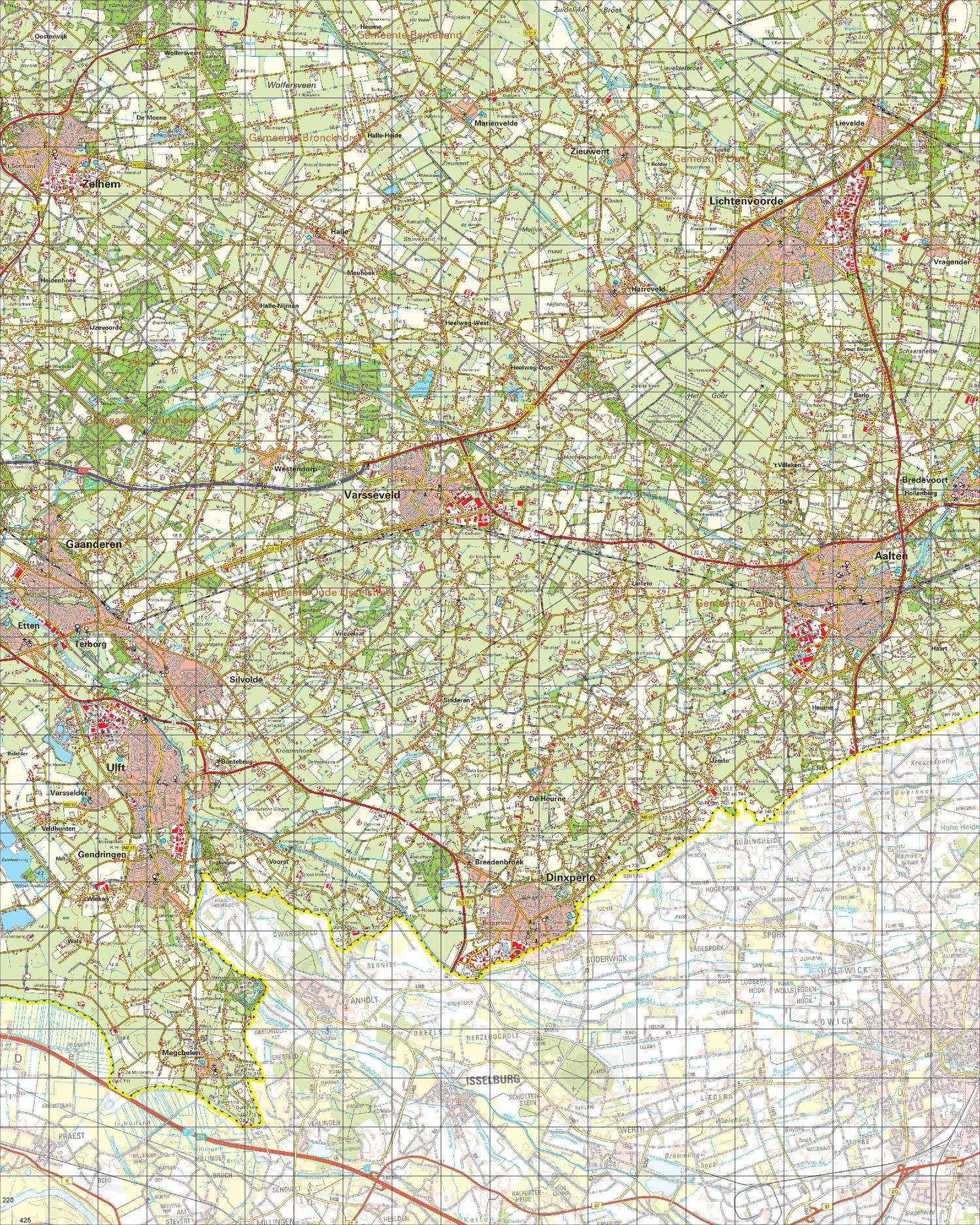 Topografische Kaart 41 West Aalten