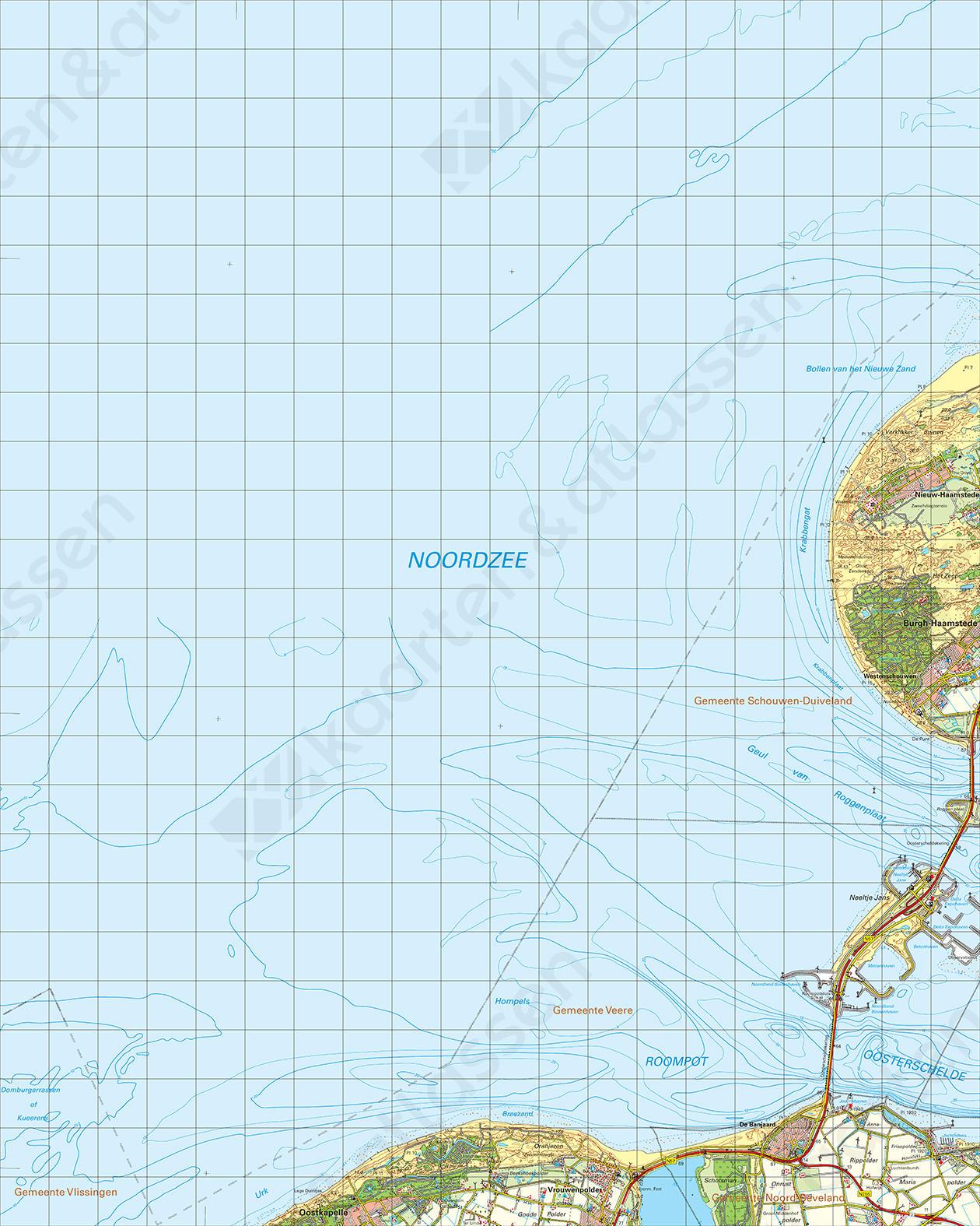 Topografische Kaart 42 West Zierikzee