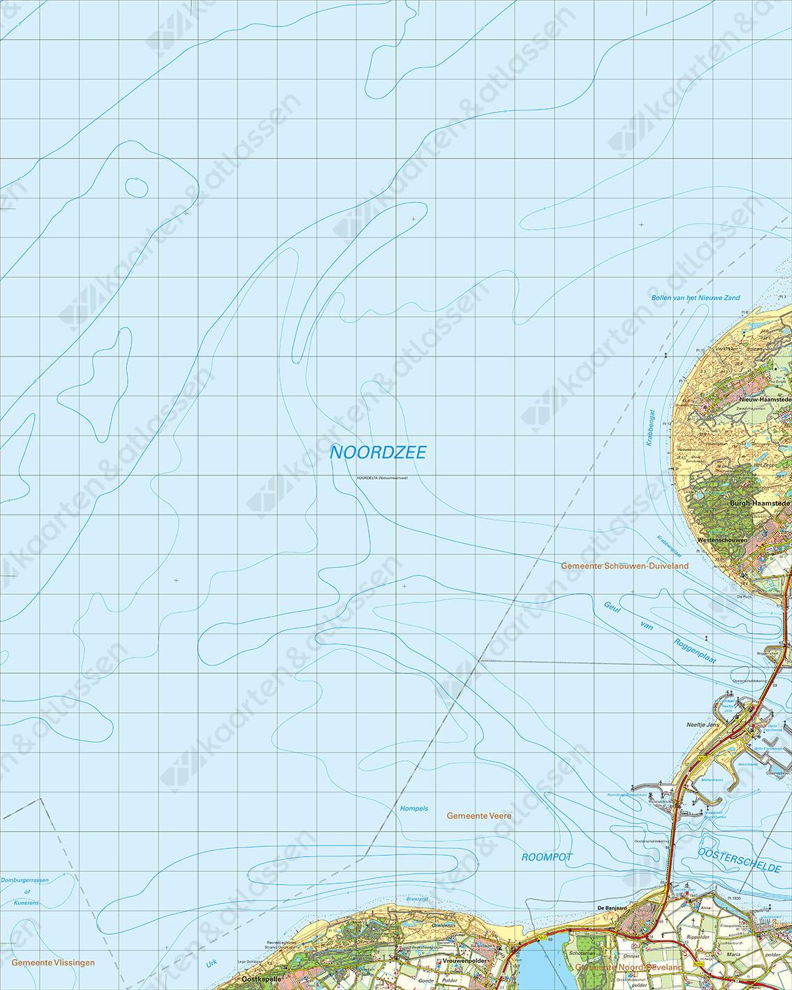 Digitale Topografische Kaart 42 West Zierikzee