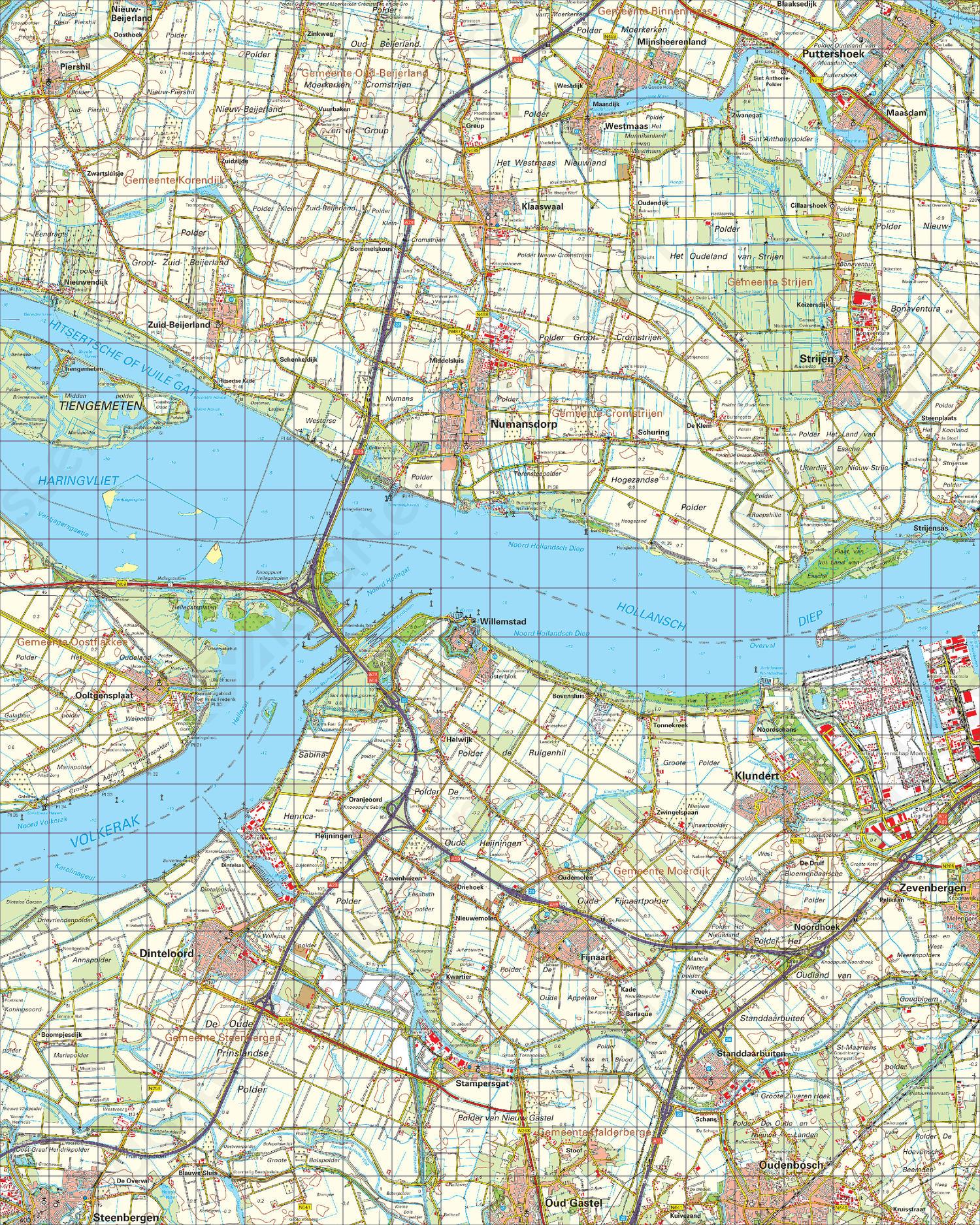 Topografische Kaart 43 Oost Willemstad