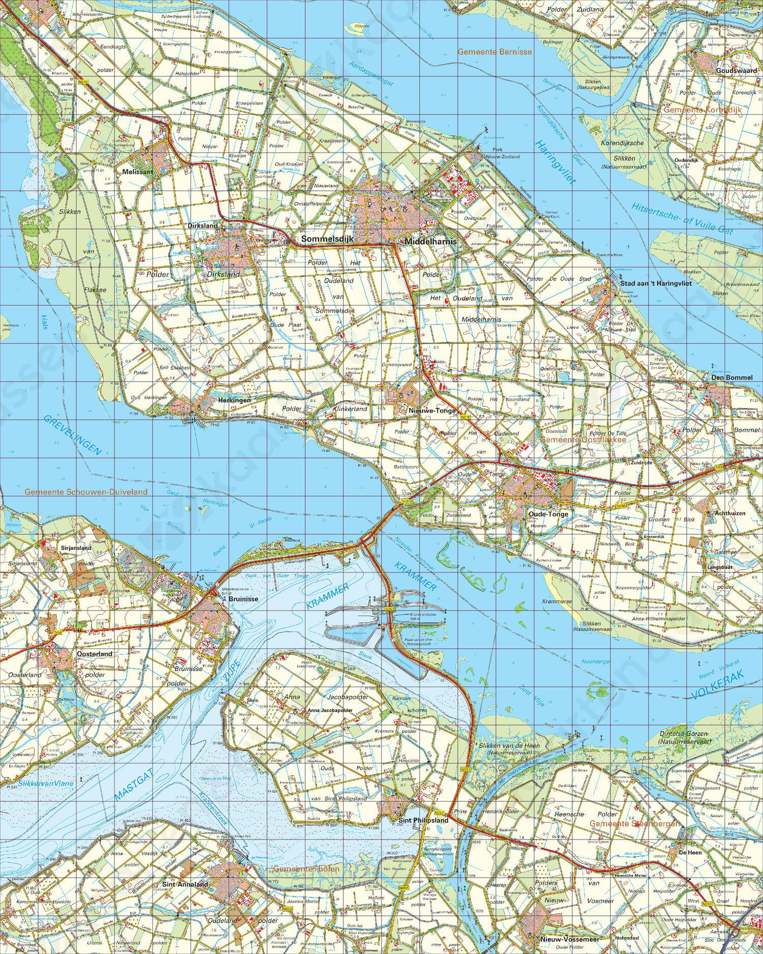 Topografische Kaart 43 West Willemstad