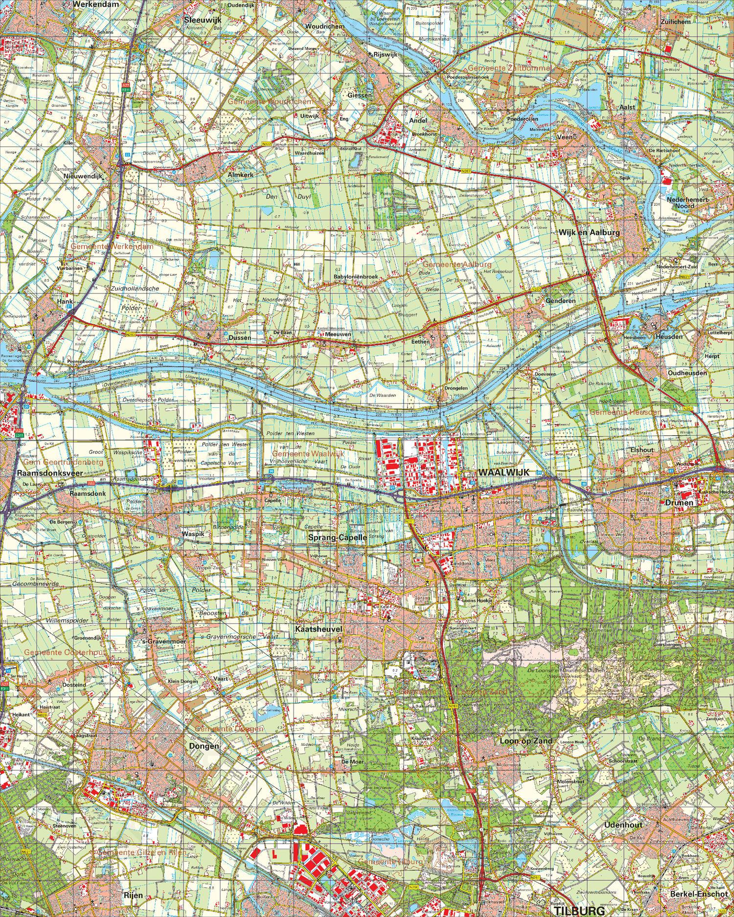 Topografische Kaart 44 Oost Oosterhout