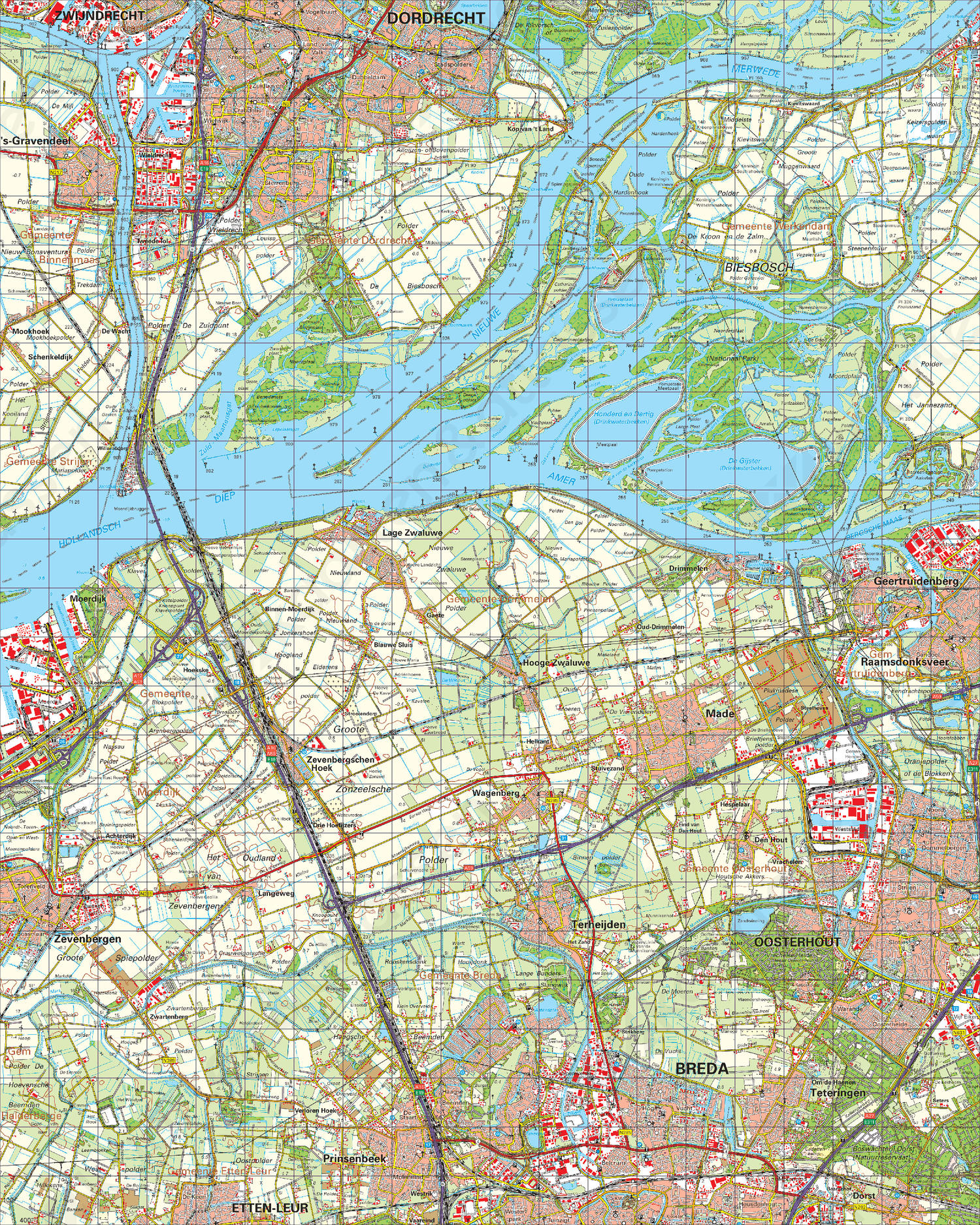 Topografische Kaart 44 West Oosterhout