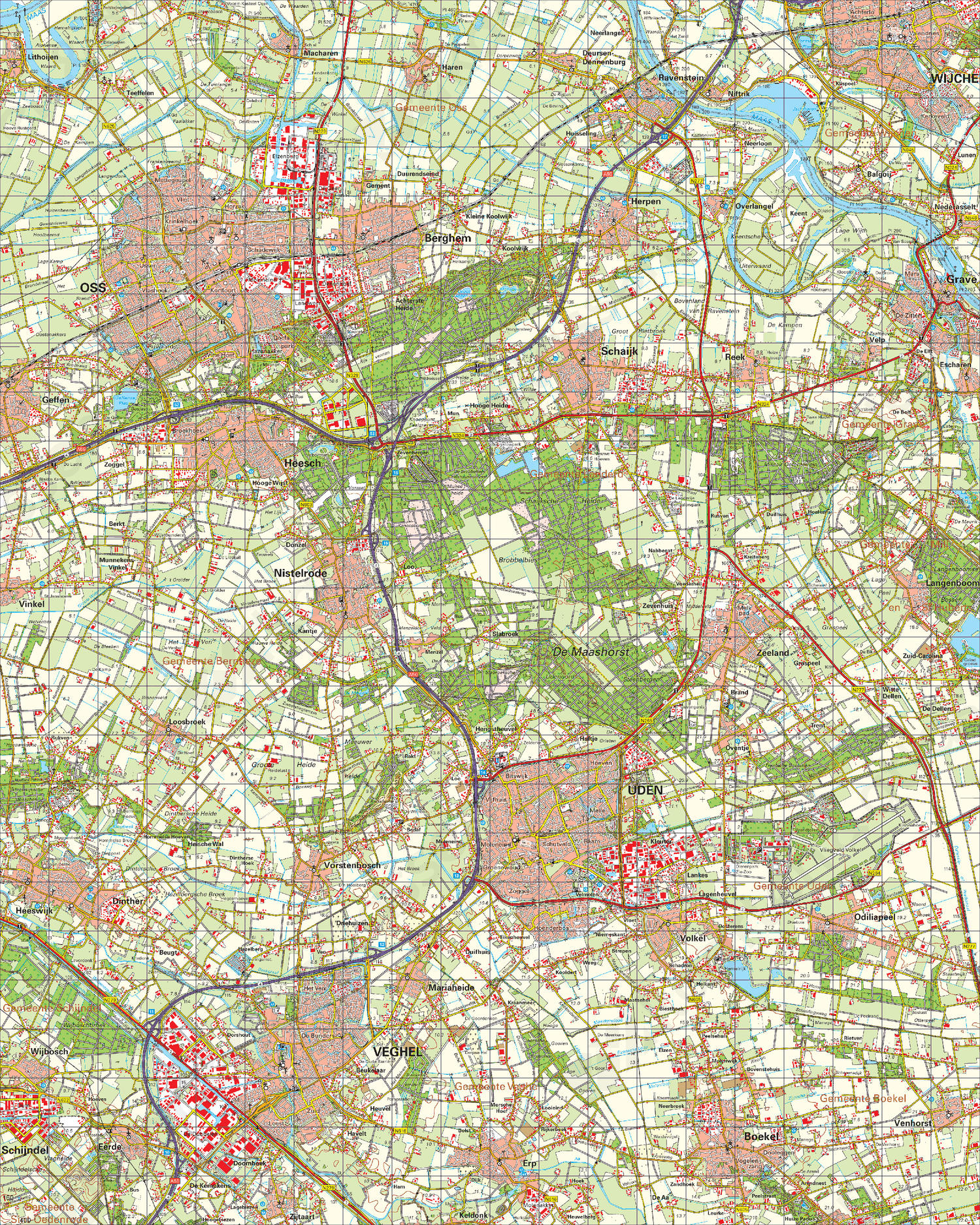Digitale Topografische Kaart 45 Oost 's-Hertogenbosch