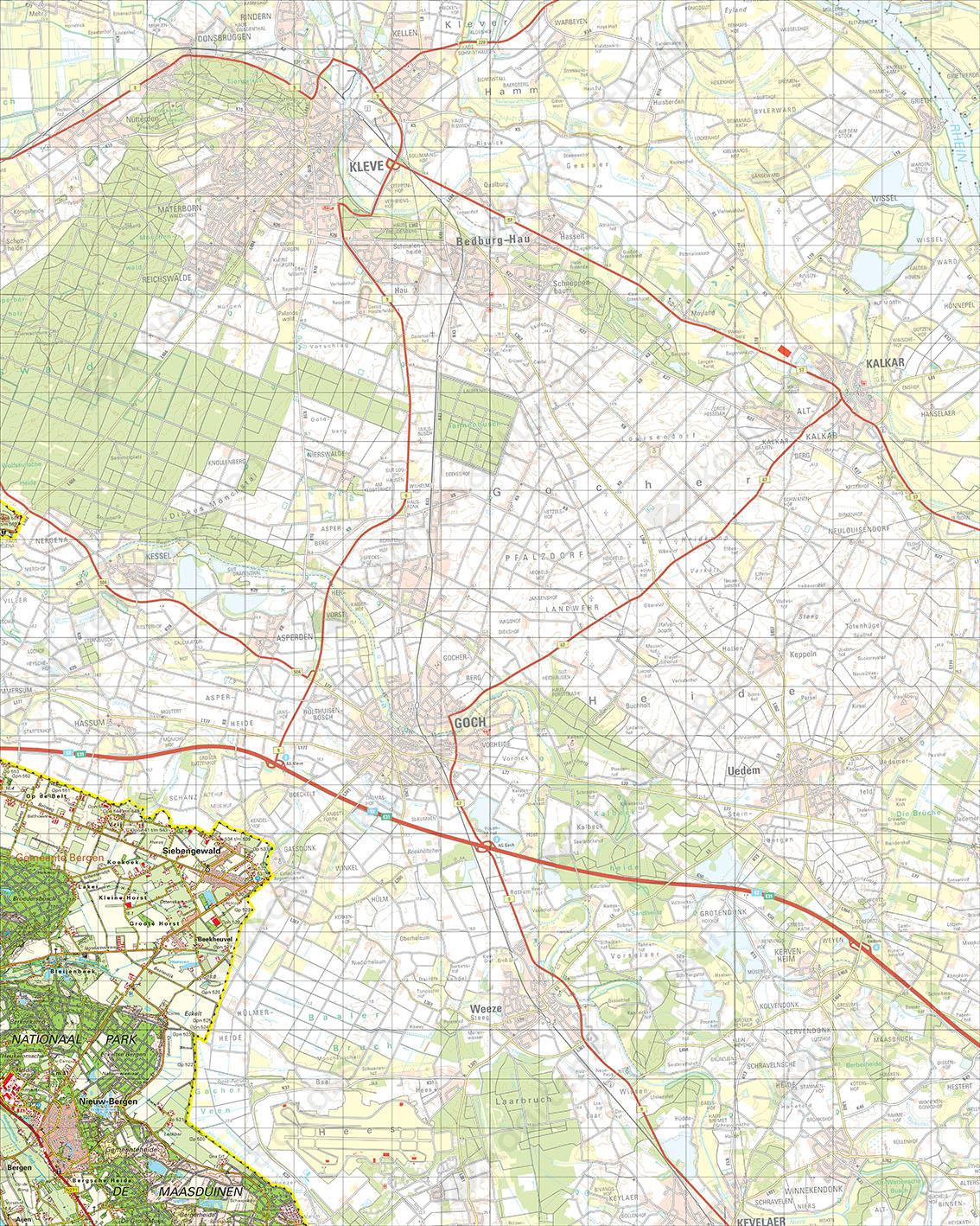 Digitale Topografische Kaart 46 Oost Gennep