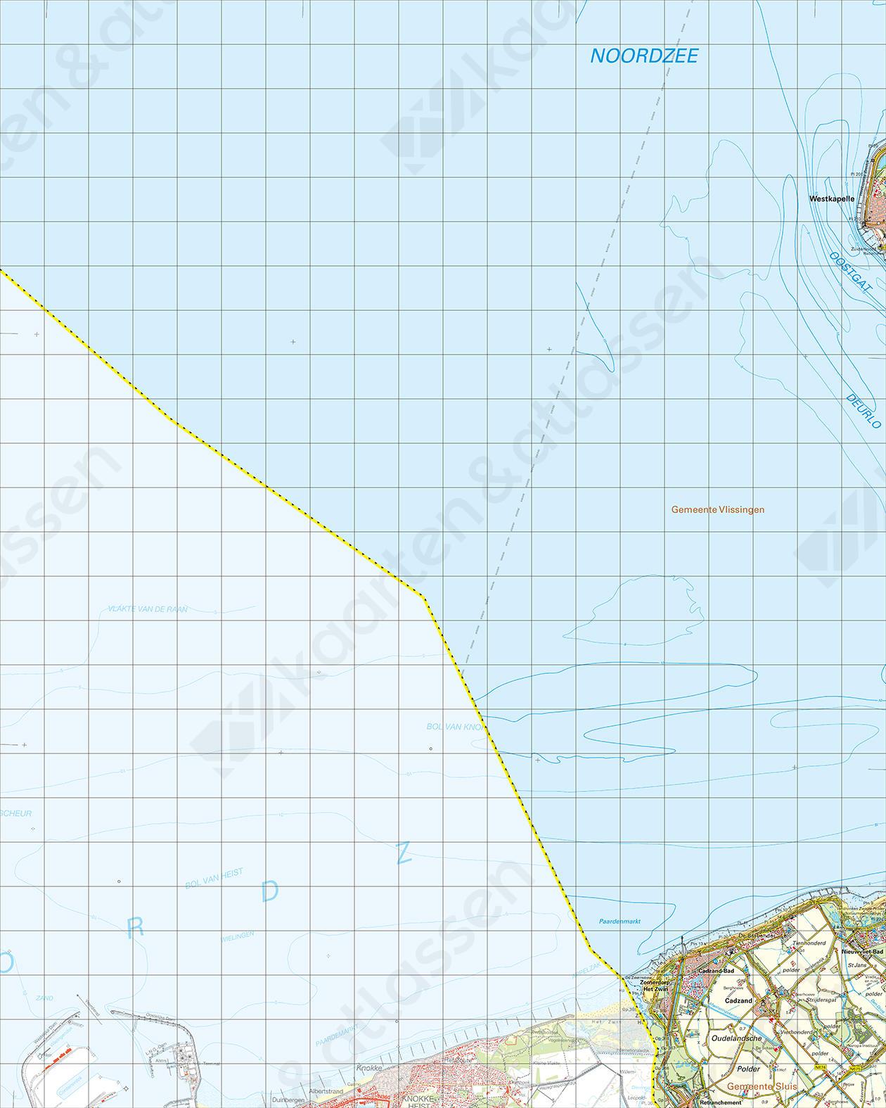 Topografische Kaart 47 Oost Cadzand