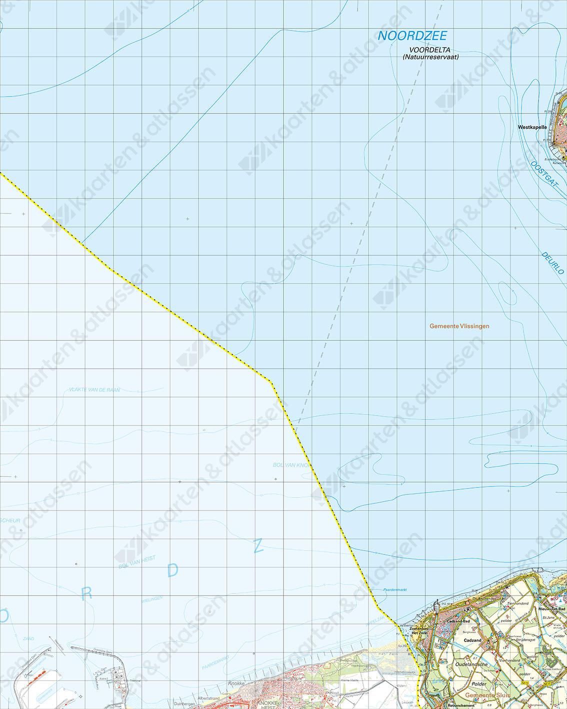 Digitale Topografische Kaart 47 Oost Cadzand