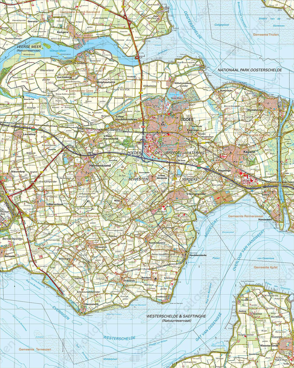 Topografische Kaart 48 Oost Middelburg